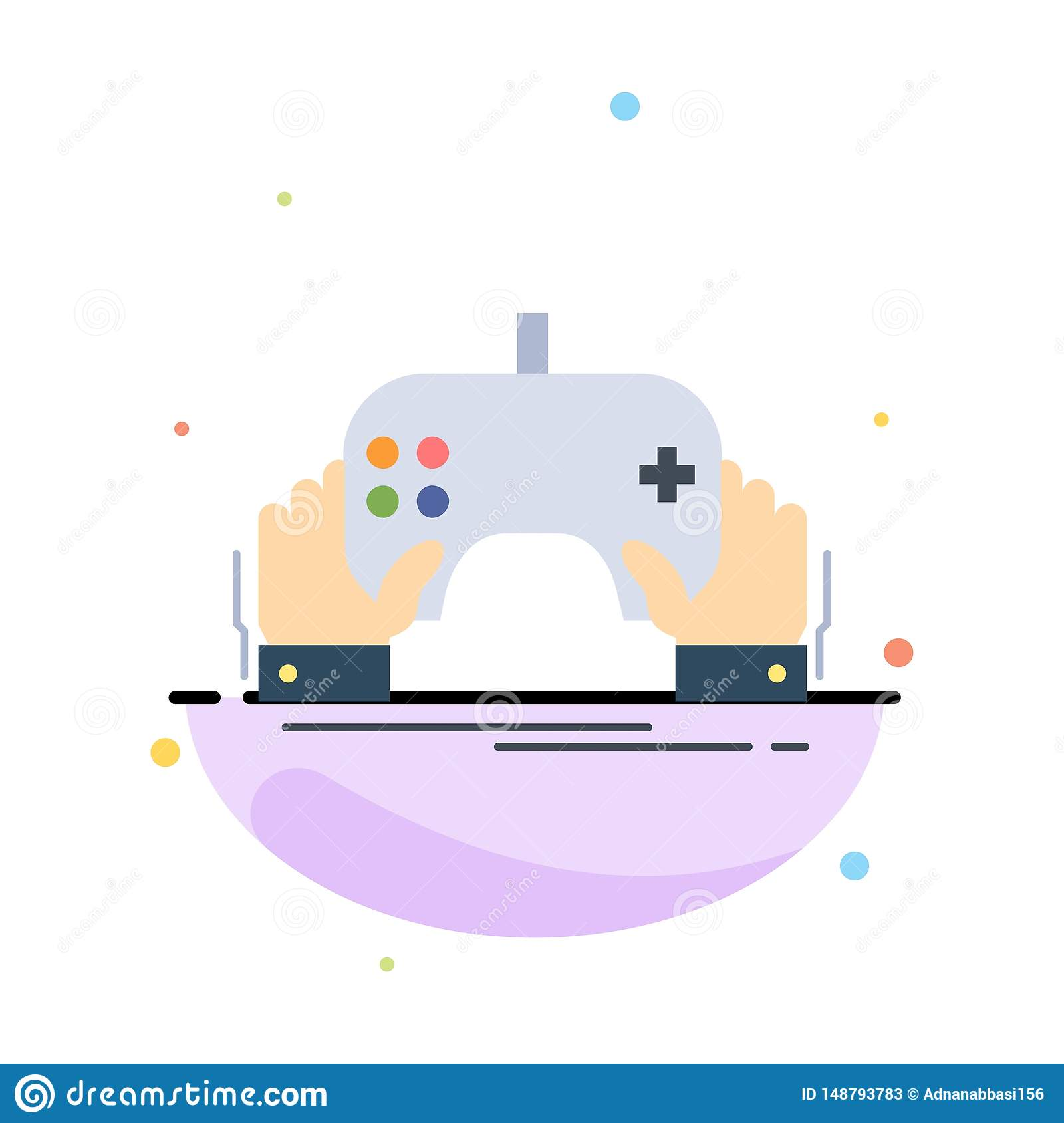 Game, Gaming, Mobile, Entertainment, App Flat Color Icon ...