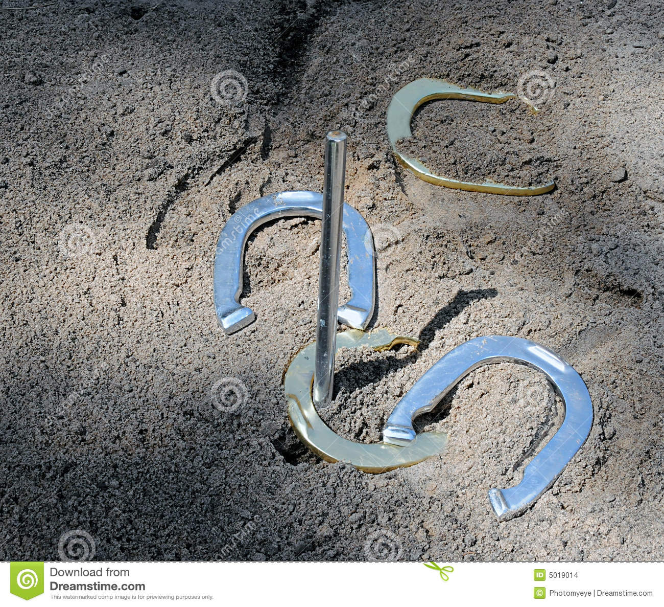 A game of horseshoes stock photo image of metallic metal for Where to buy used horseshoes