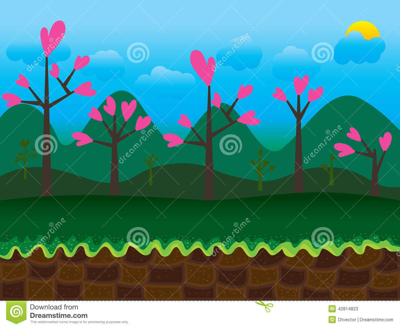Game Interface Background Morning Stock Vector - Illustration of
