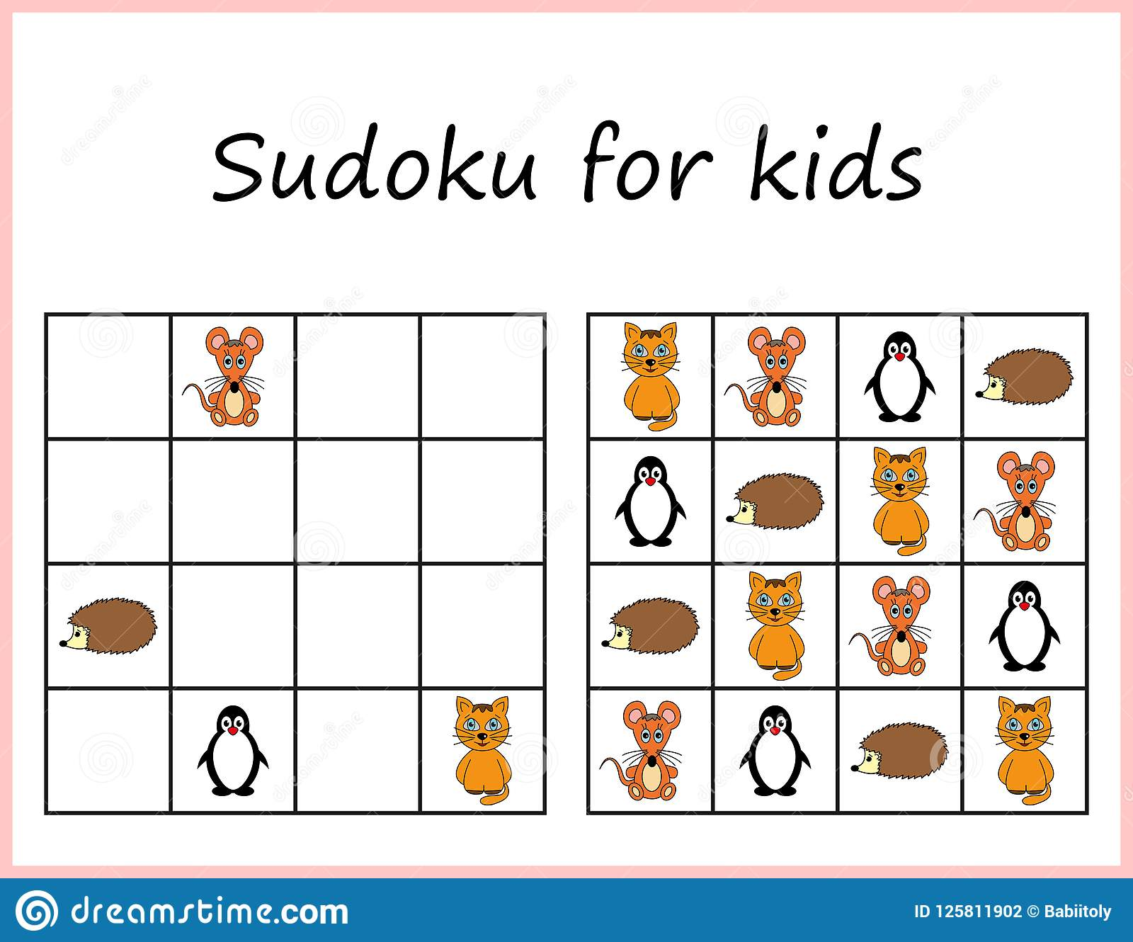 picture about Sudoku Printable for Kids identify Sudoku For Little ones. Activity For Preschool Children, Exercising Logic