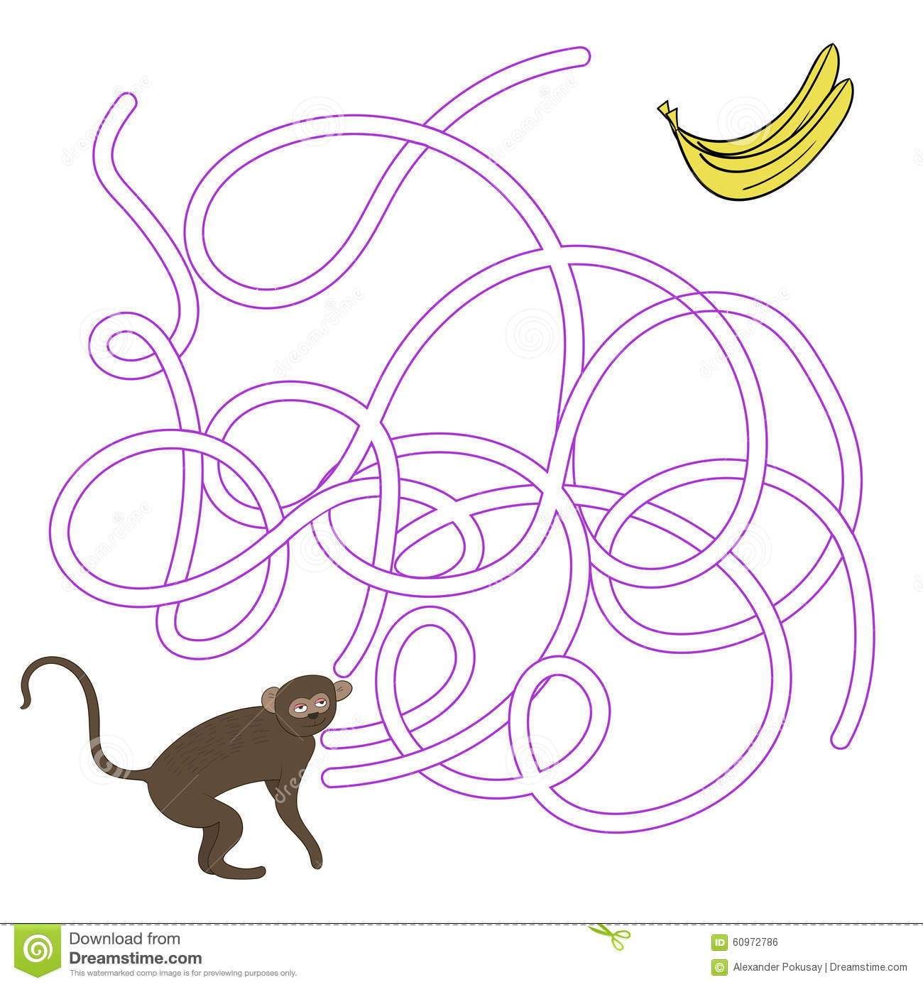 Download Game Labyrinth Find A Way Vervet Ape Vector Stock Vector - Illustration of search, elements: 60972786