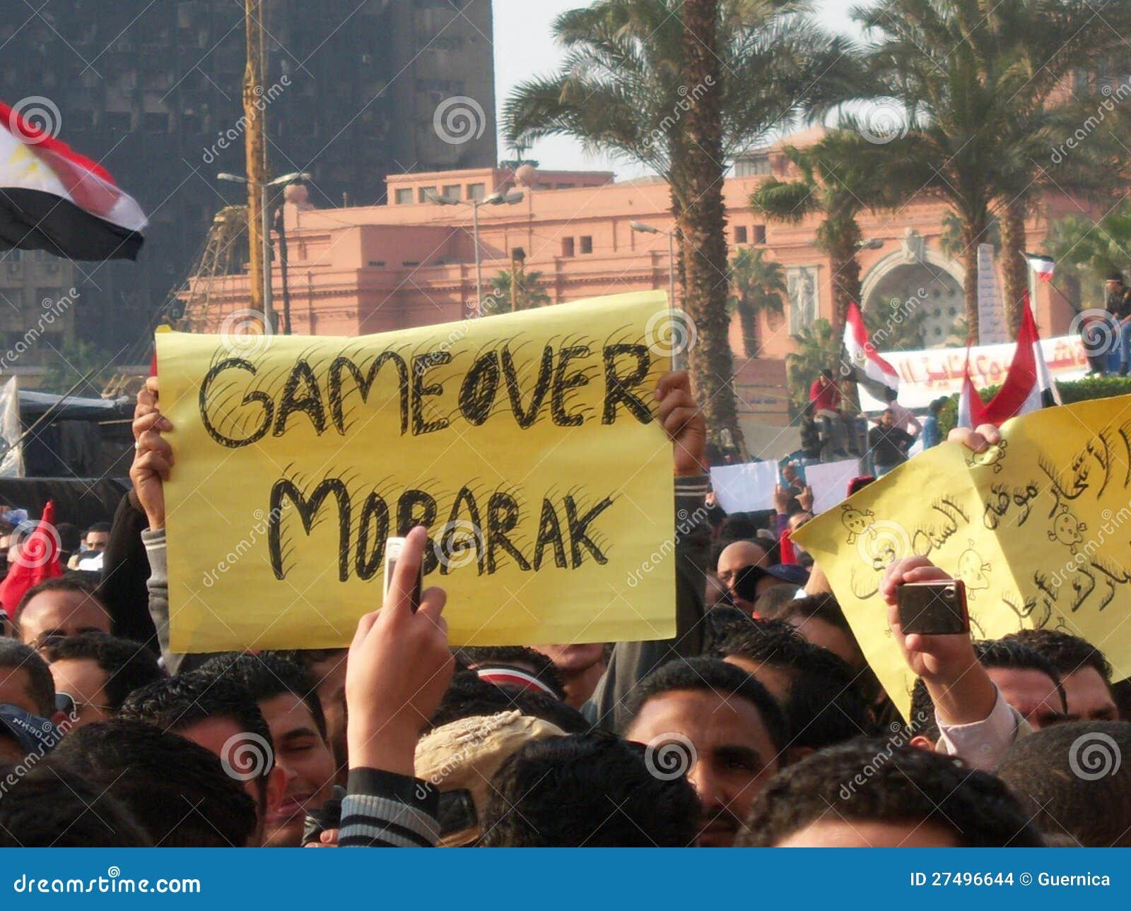 Tahrir Square cemonstrators