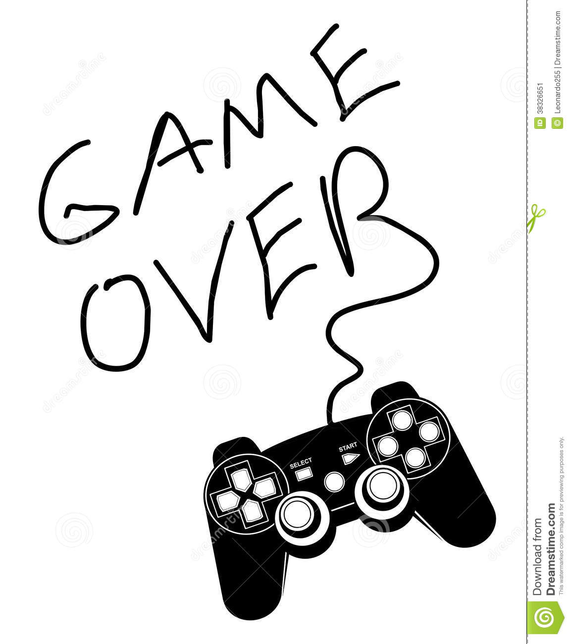 game over stock vector  image of accessory  activity