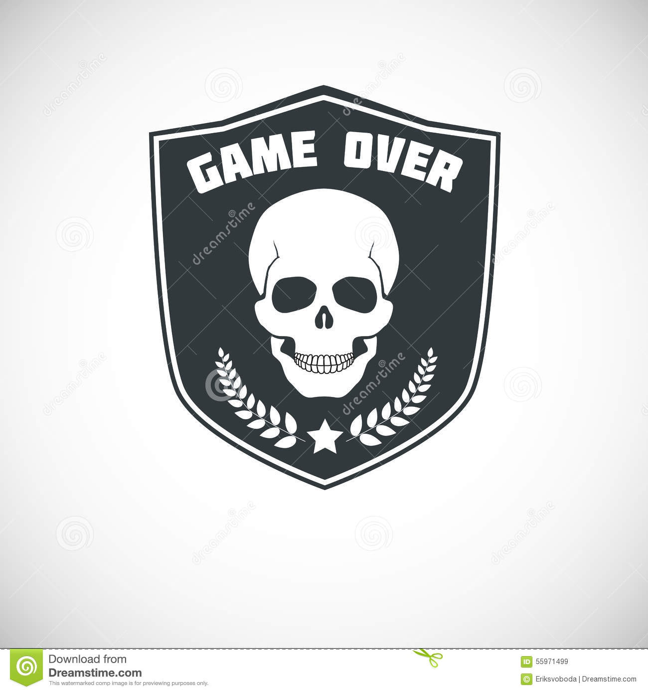 Game over symbol with skull stock vector illustration of game over symbol with skull buycottarizona Images