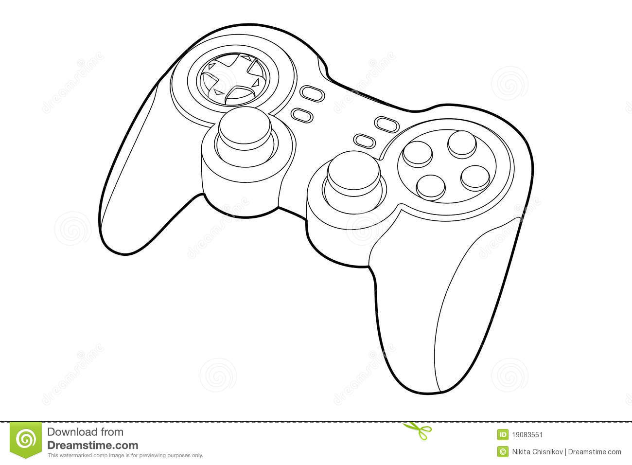 Line Drawing Xbox Controller : Game pad stock vector illustration of games