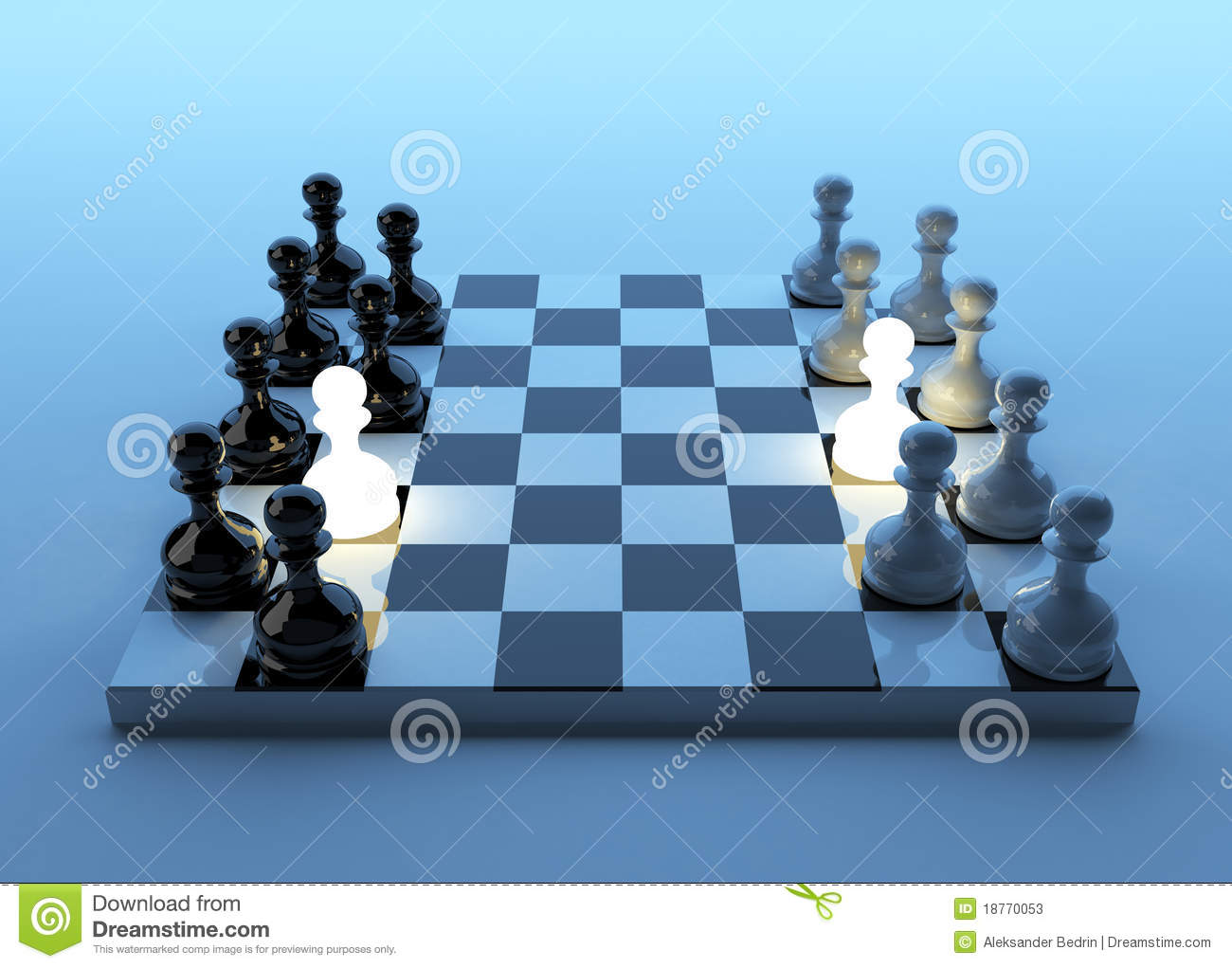 Game In A Pawn  Business Strategy  Stock Illustration
