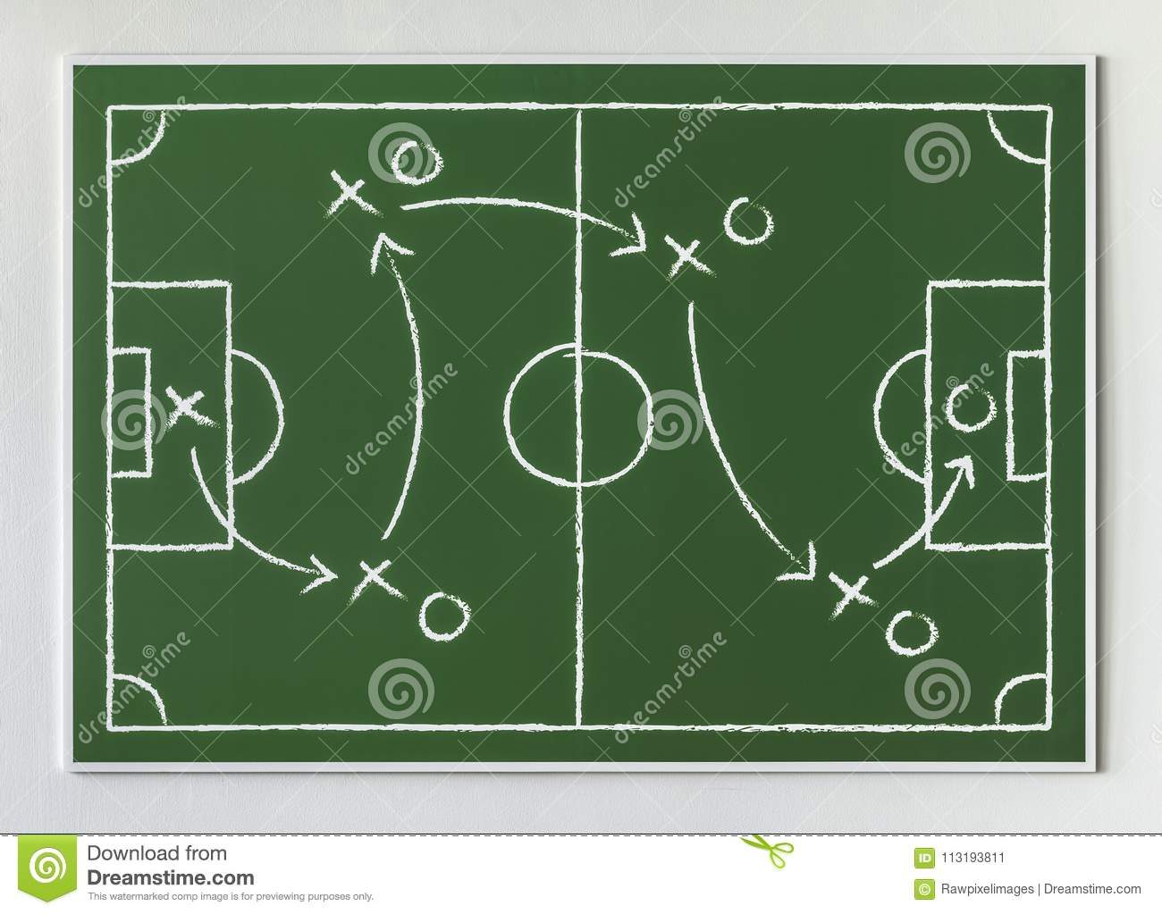 155678dee Game plan for soccer player to shoot goals. More similar stock illustrations