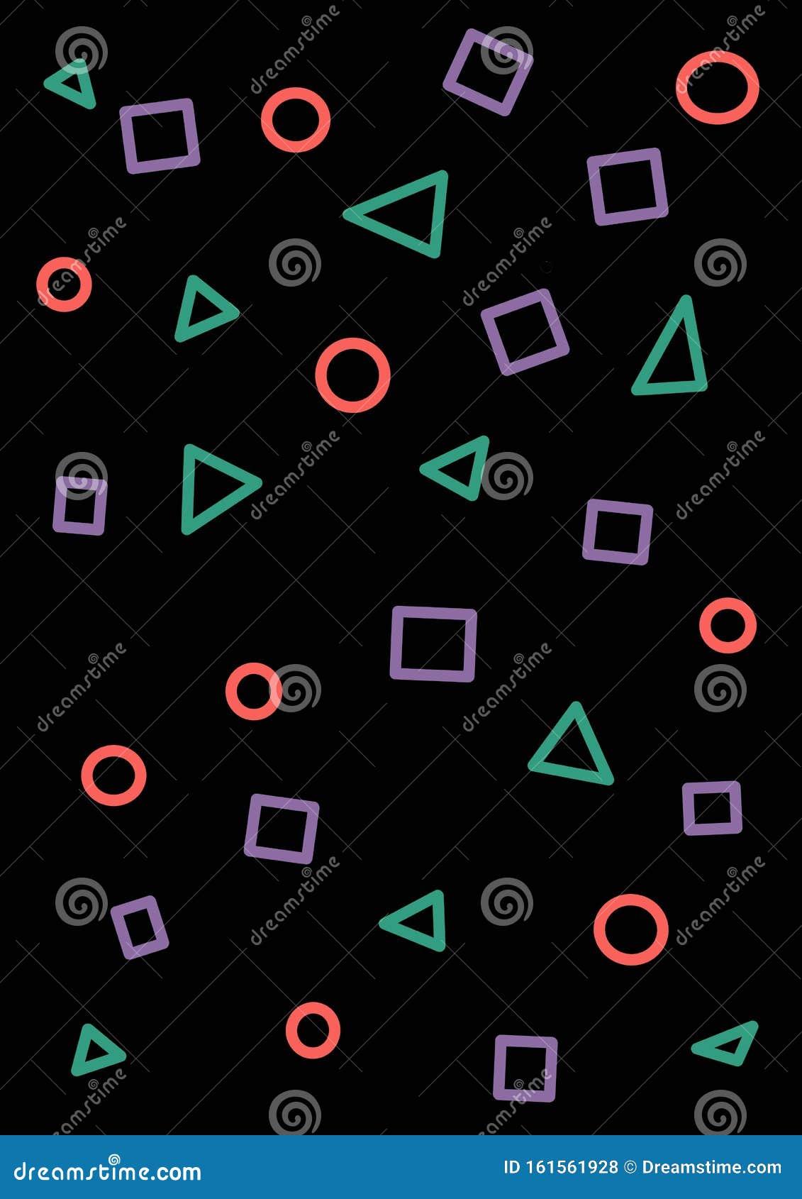 game playstation seamless pattern multi color geometric shapes contours dark background fashion s retro vin vintage 161561928