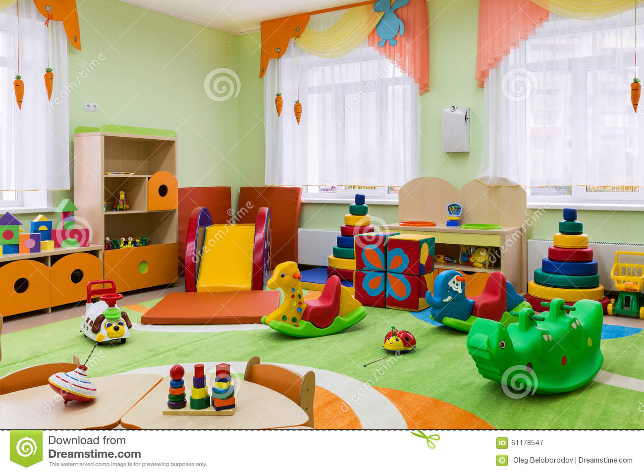 Game Room In The Kindergarten Stock Image Image Of Childrens Games 61178547