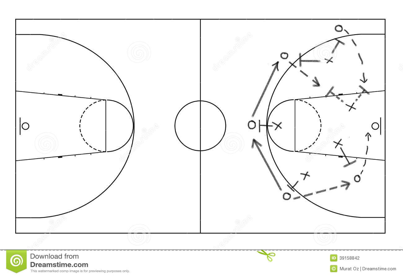 Basketball Whiteboard Game strategy drawn on white board stock photo ...