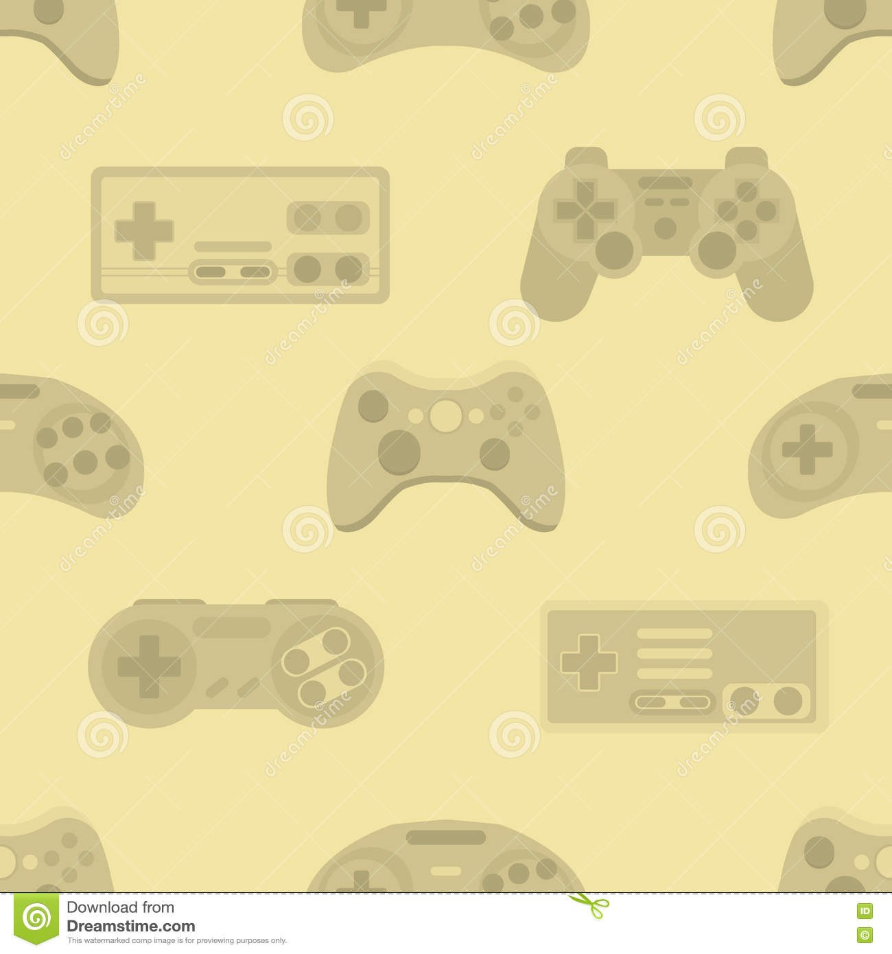 Vector Illustration Game Controller Colorful Vector