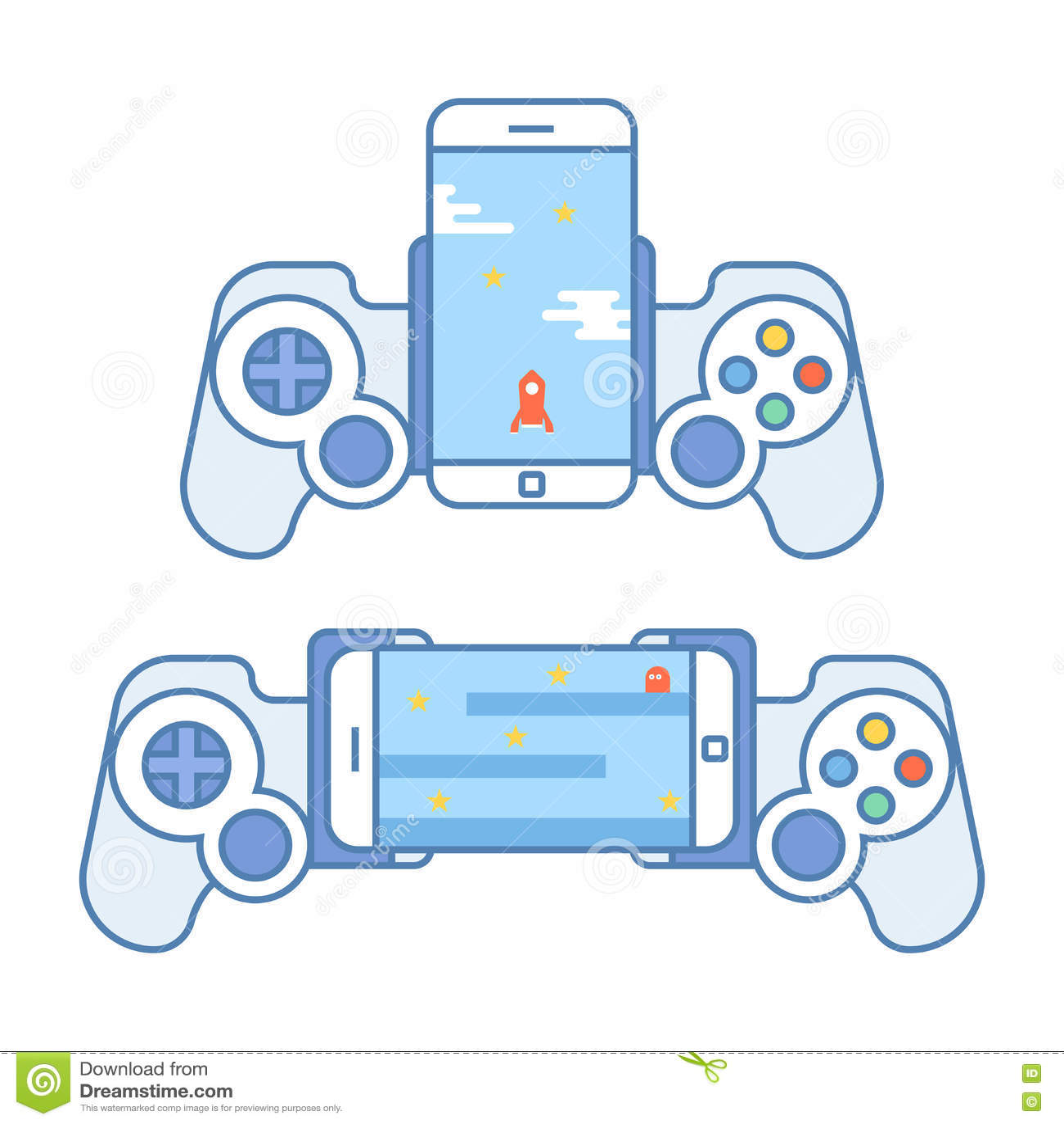 Gamepad für Ihr Telefon Zubehör für tragbare Geräte erlaubt Ihnen, Videospiele zu spielen Steuerknüppel für Unterhaltung