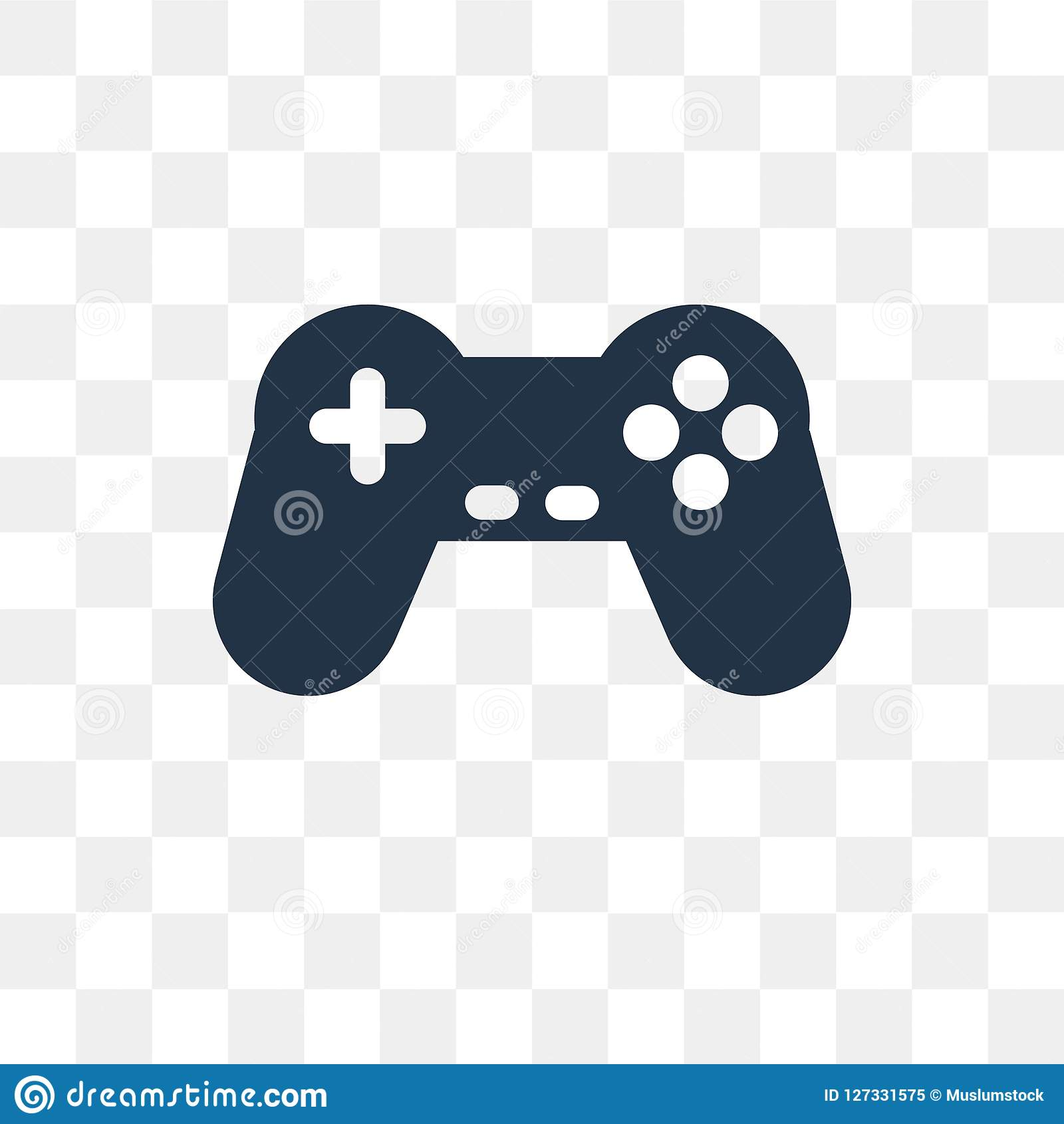 Gamepad Vector Icon Isolated On Transparent Background, Gamepad