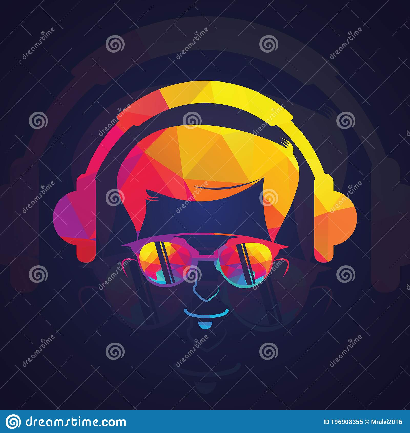 Gamer With Glasses Gaming Logo Illustration Vector On White Background Stock Vector Illustration Of Geek Communication 196908355