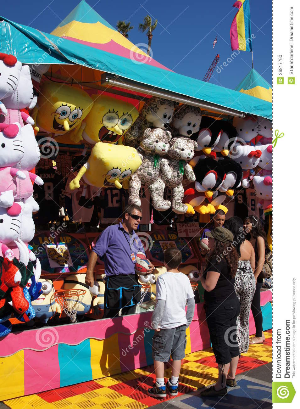 games at the fair or carnival editorial image image