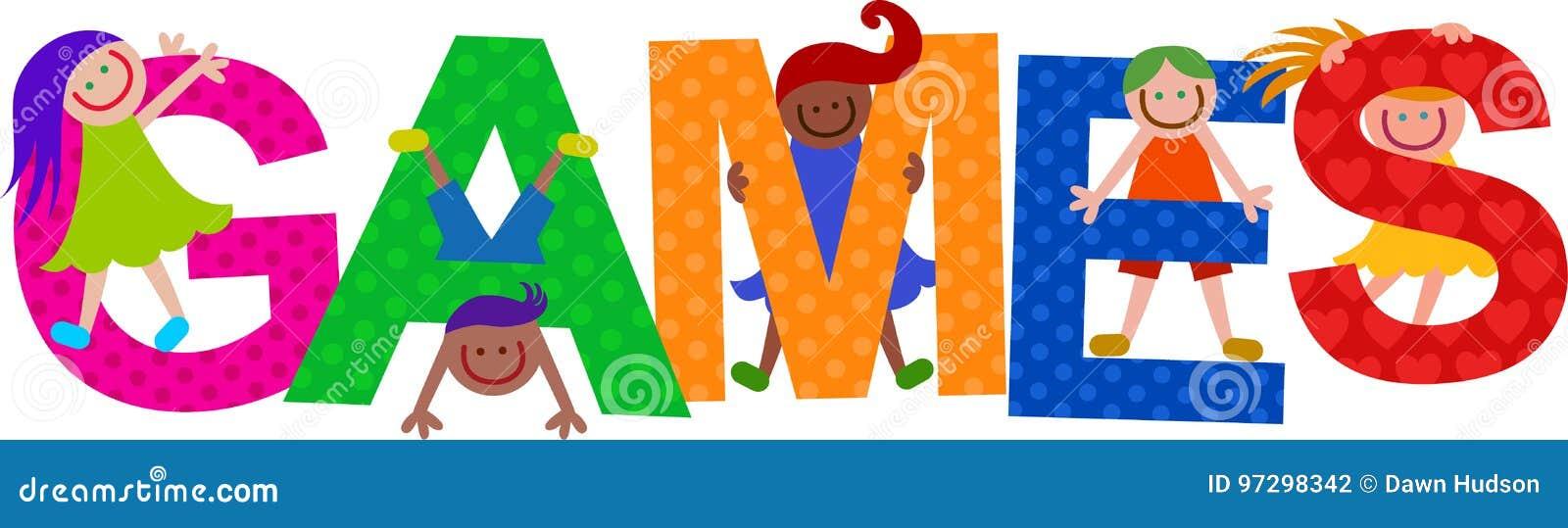 Games Kids Title Text Stock Illustration Illustration Of Preschool 97298342