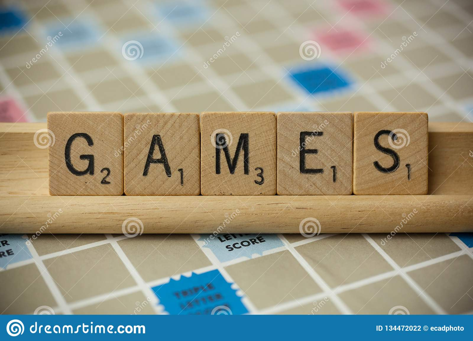 Games Scrabble Tiles editorial photography  Image of