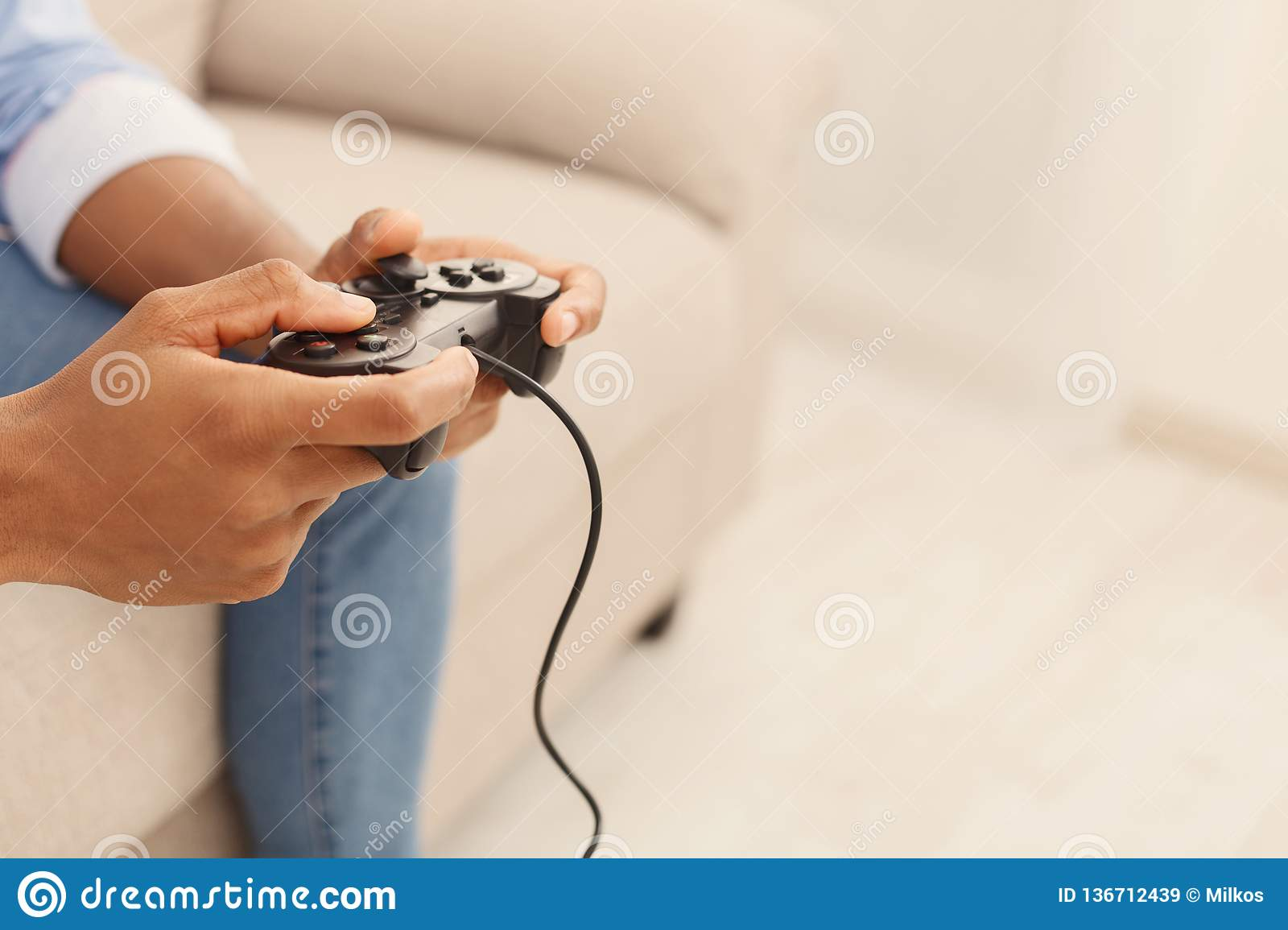 Remarkable Black Man Playing Video Games At Home Stock Image Image Of Games Wiring Digital Resources Minagakbiperorg