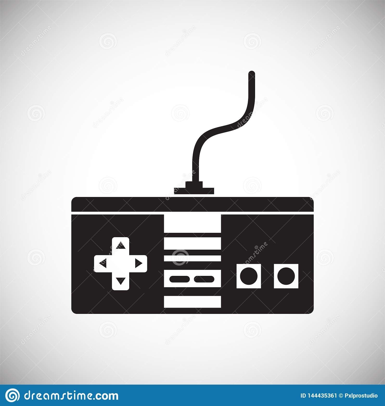 Gaming Icon On Background For Graphic And Web Design  Simple Vector