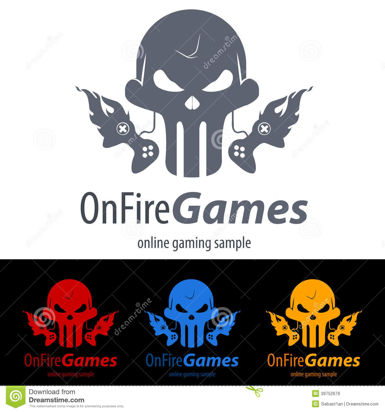Gaming Logo stock vector  Illustration of illustration - 39752679