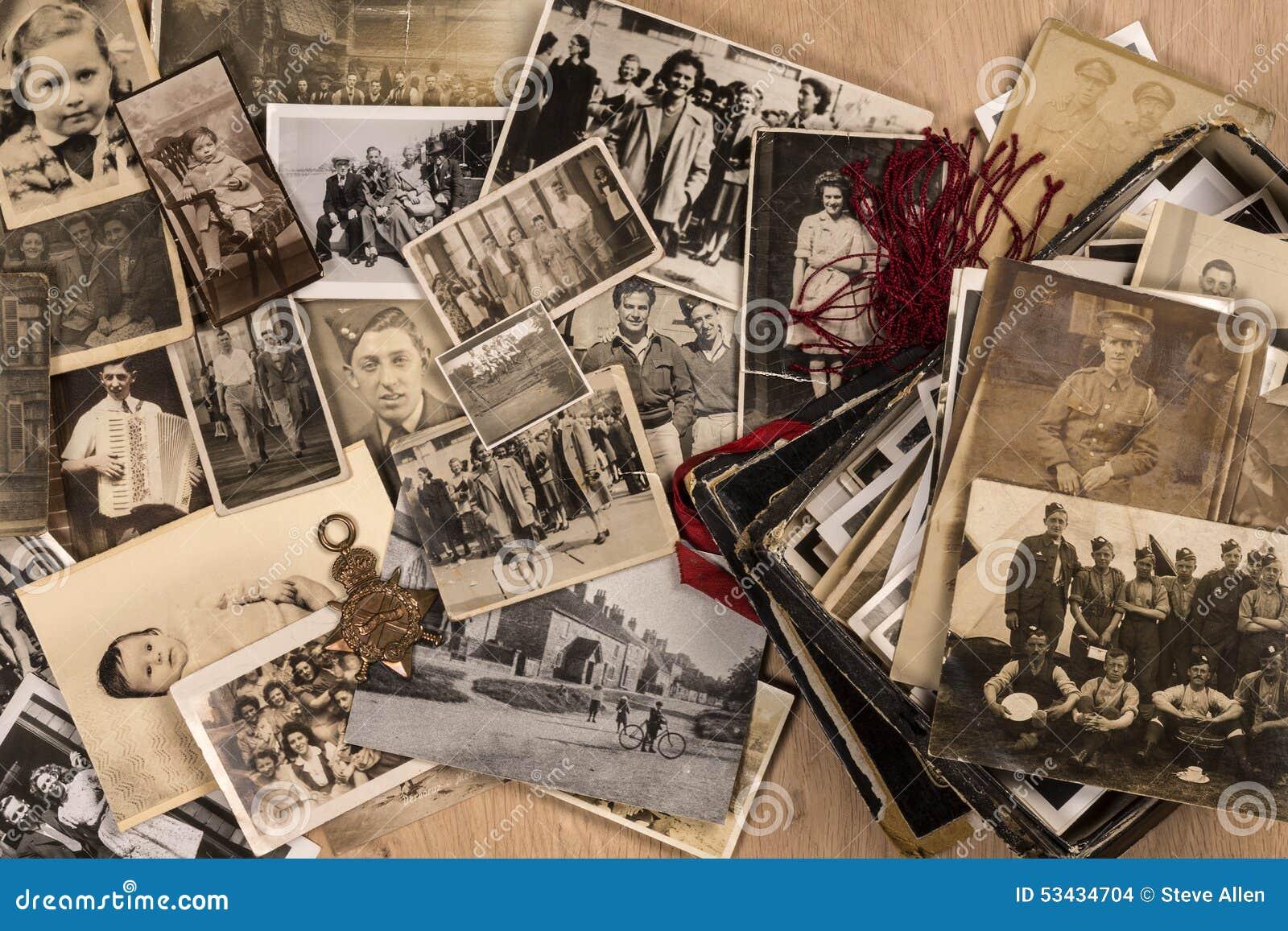 Gamla familjfotografier