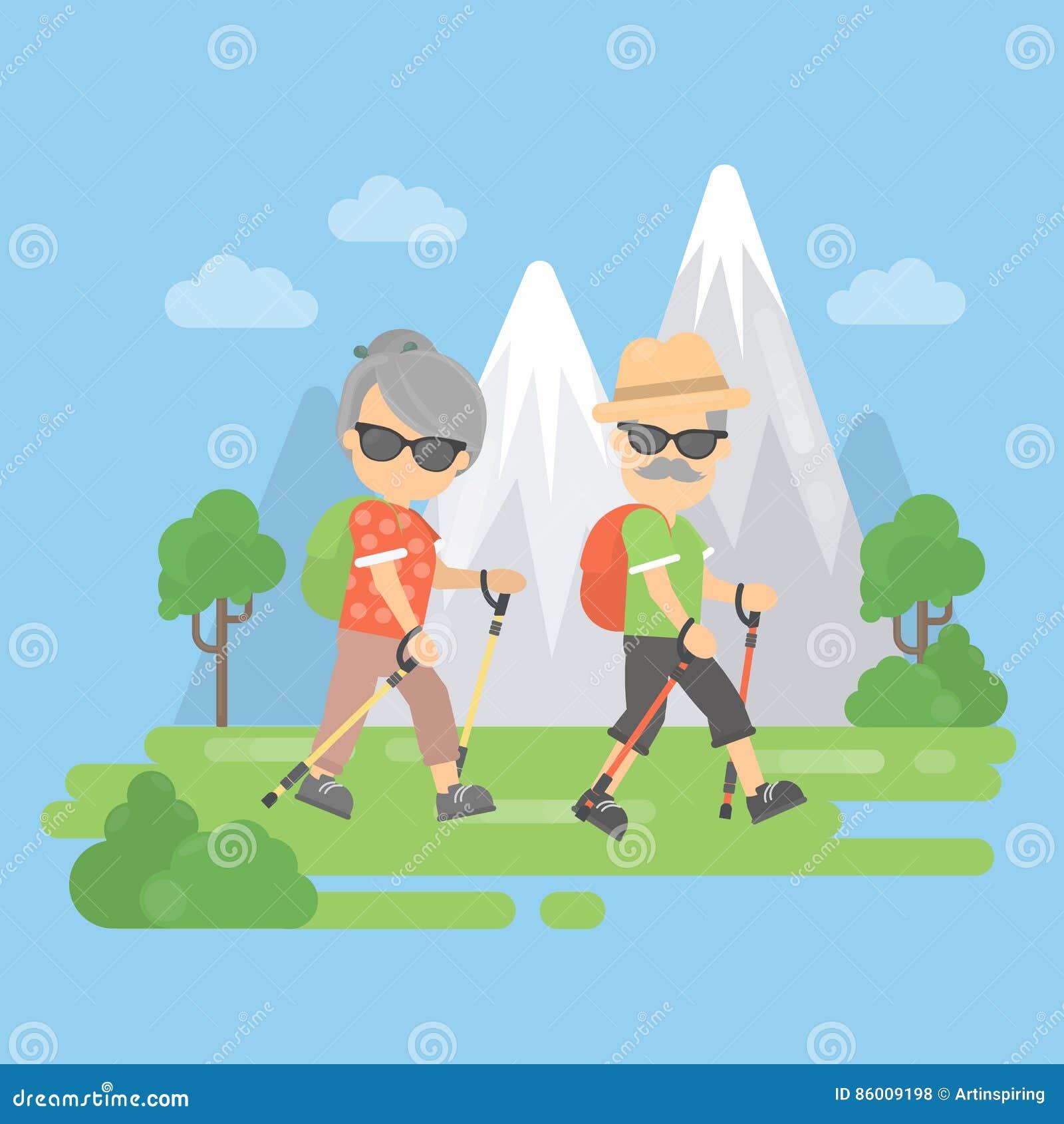 Gamla par i berg