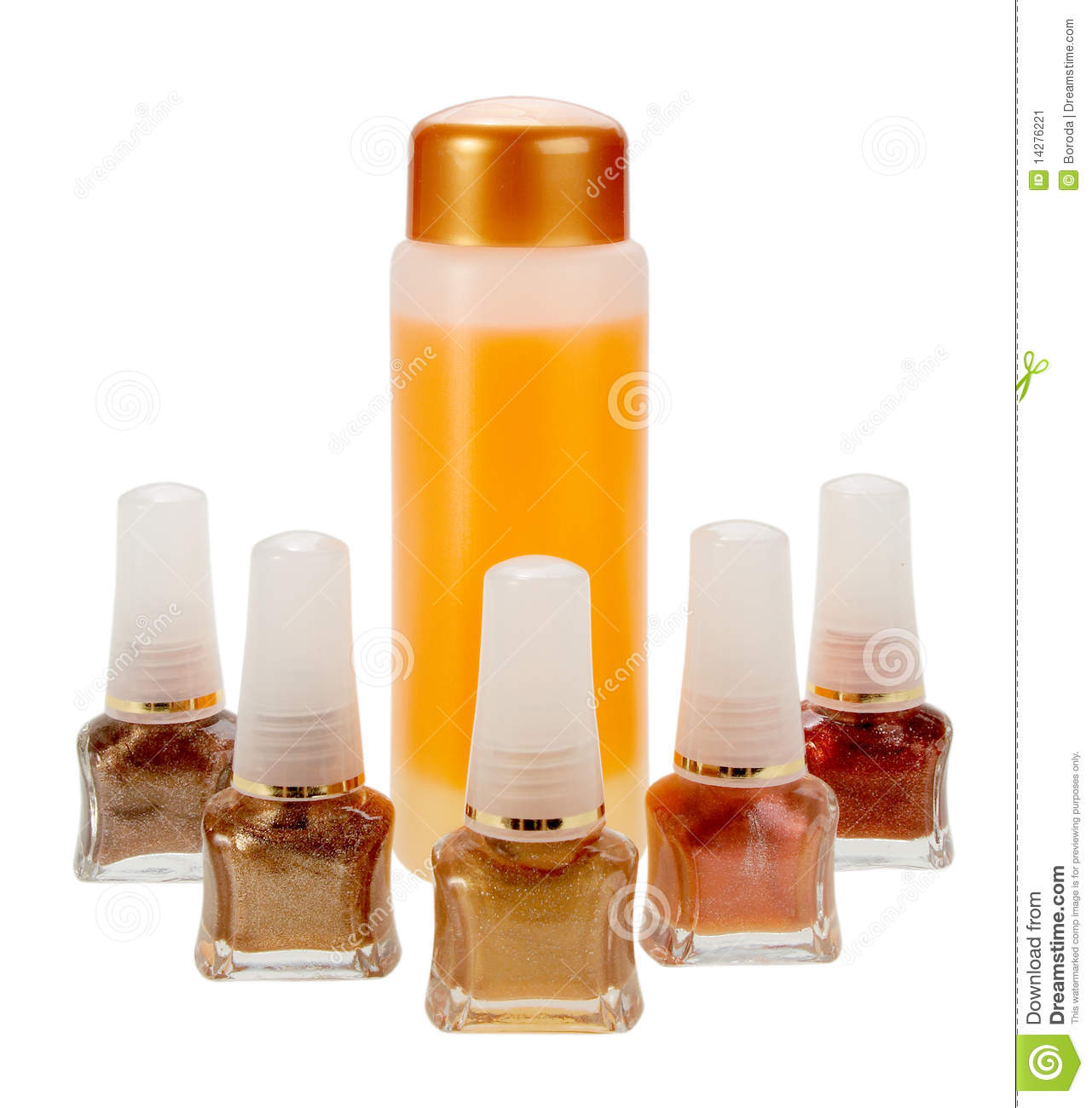 Gamma Of Nail Polish And Cream For Cleaning Stock Image