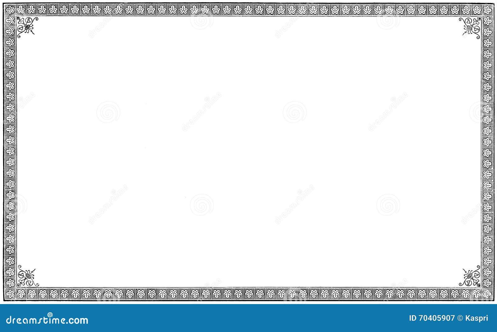 Gammal åldrig grungy gravyr för tappningbokkaraktärsteckningen, isolerad pappers- arksidasvart inristade rambakgrund, inramat hor