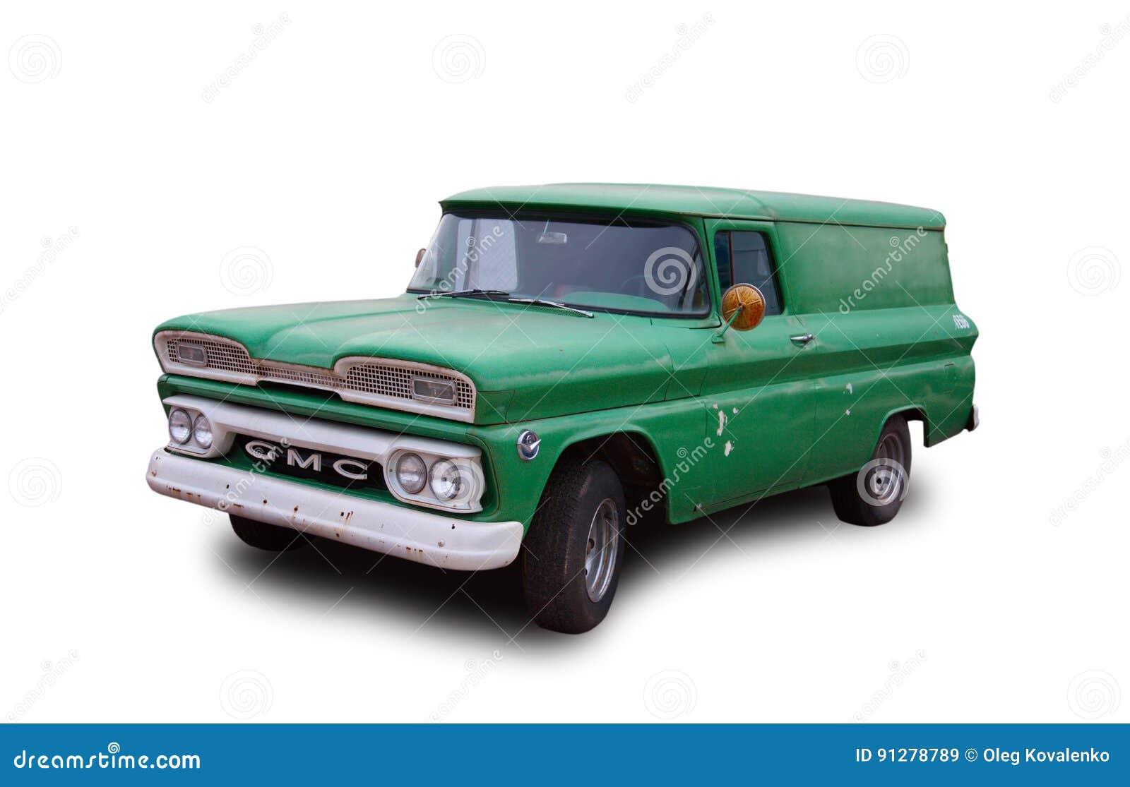 Gammal amerikansk panellastbil