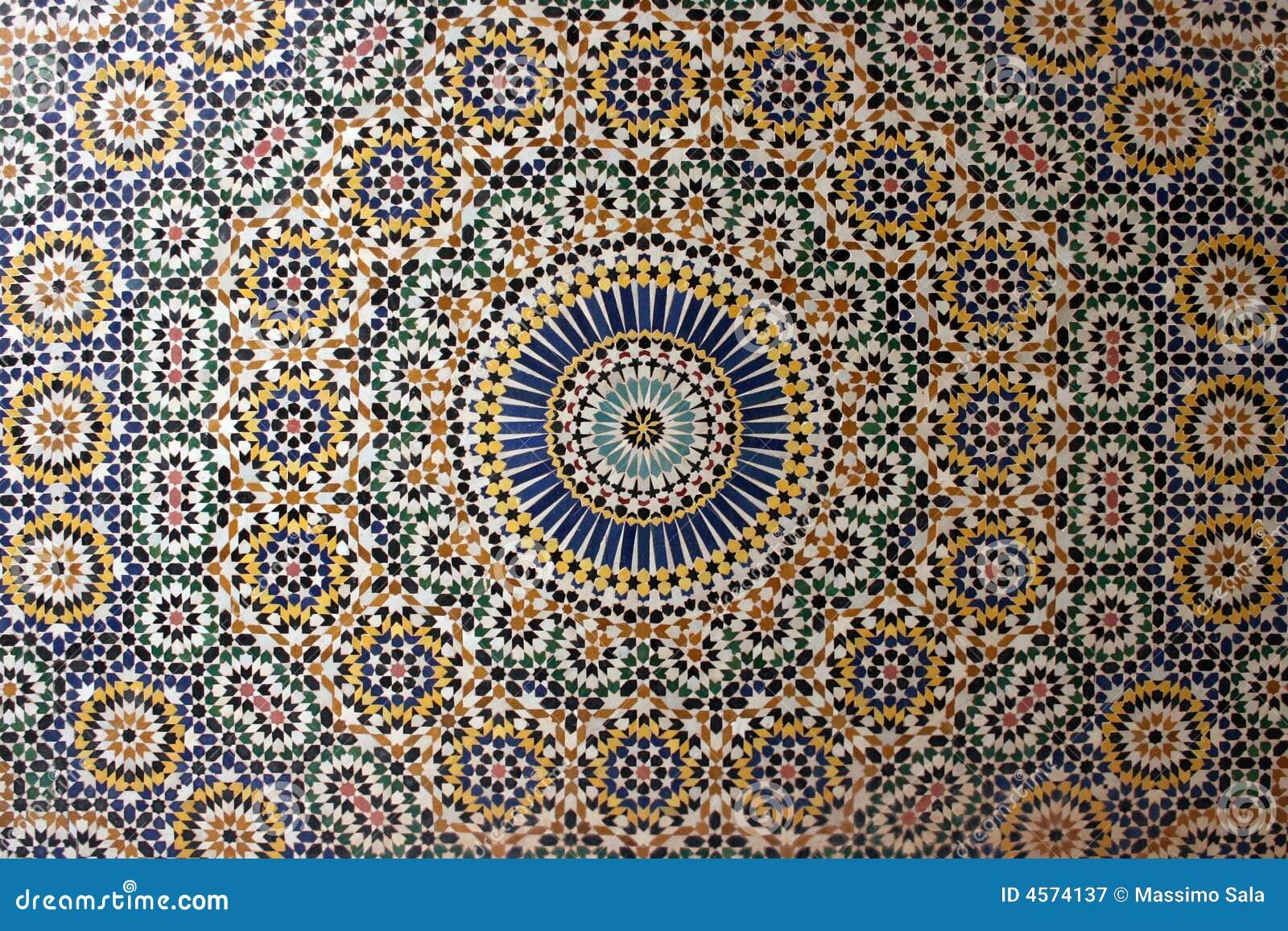 Gammal arabisk mosaik