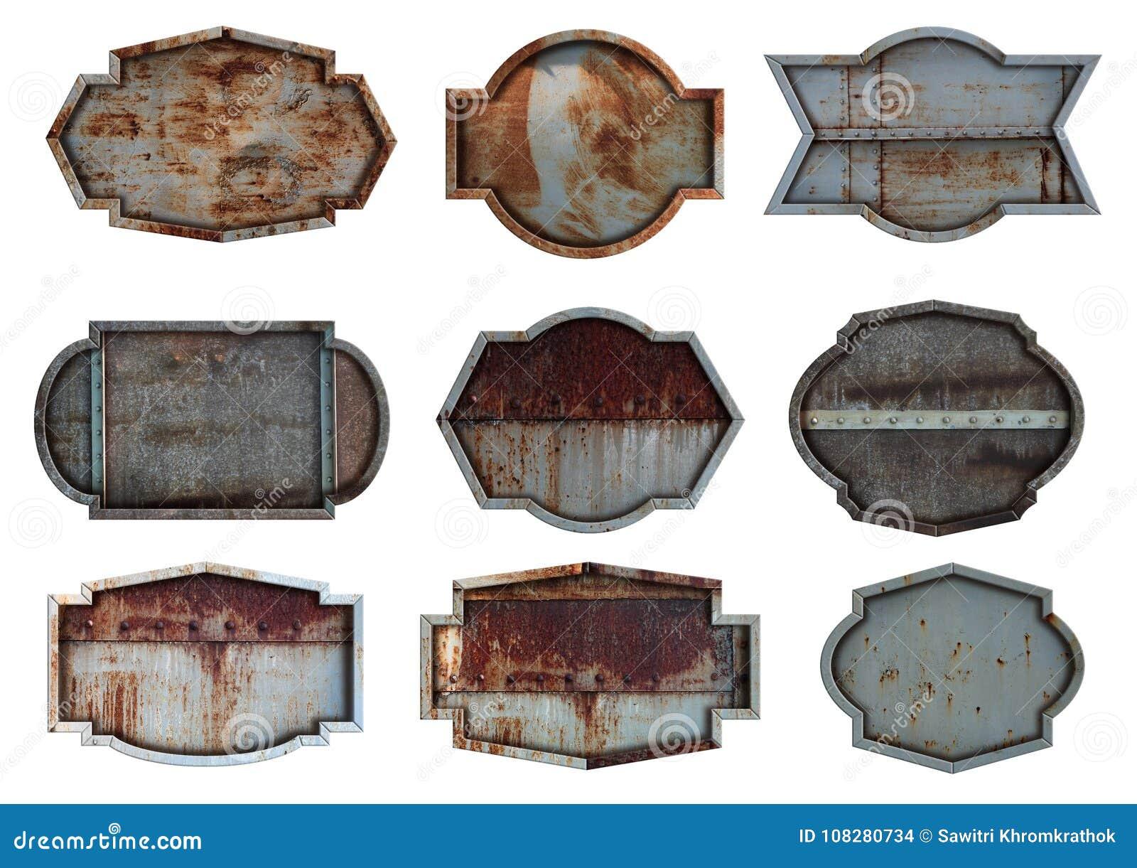 Gammal bakgrund för textur för platta för stålmetalltecken