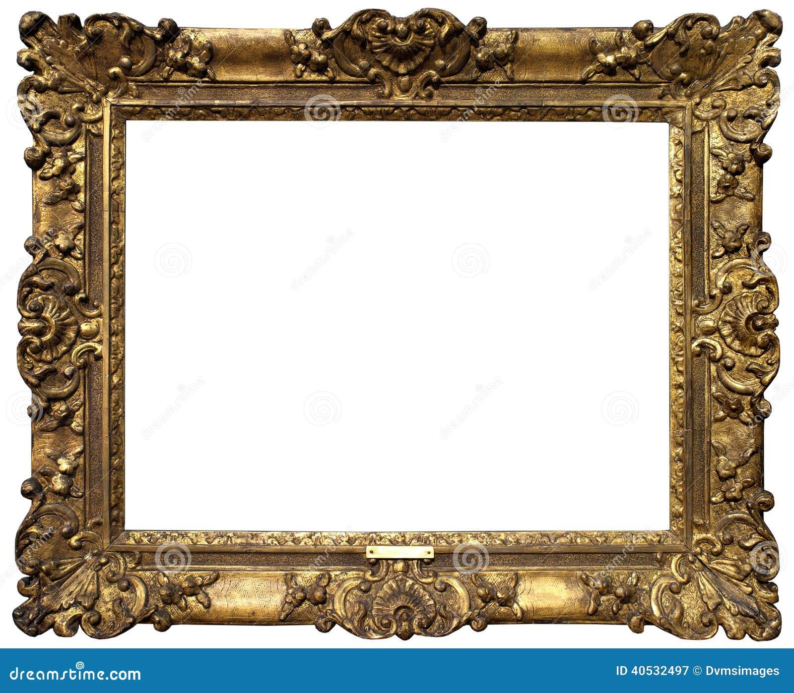 Gammal barock guld- ram