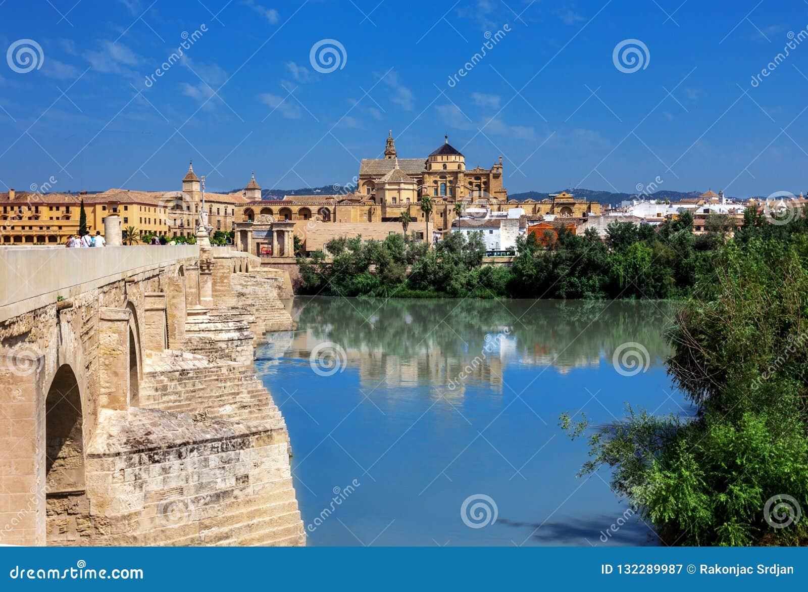 Gammal bro i Cordoba, Spanien