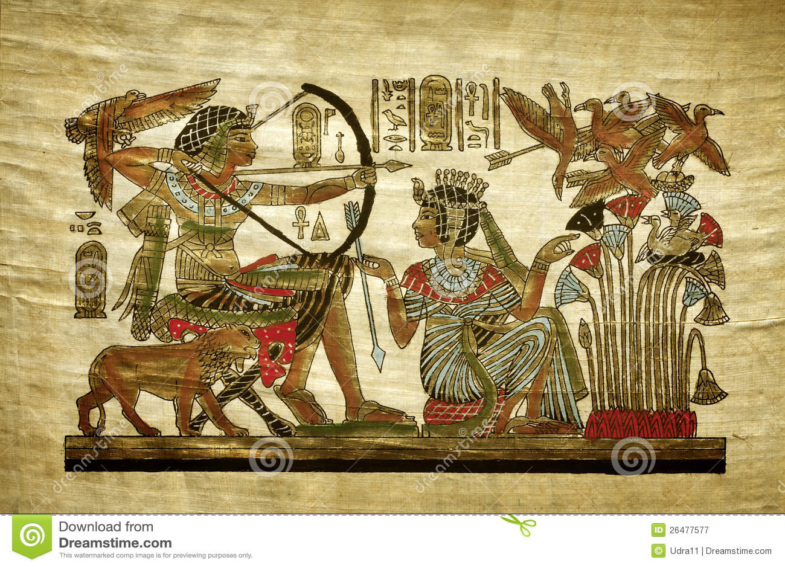 Gammal egyptisk papyrus
