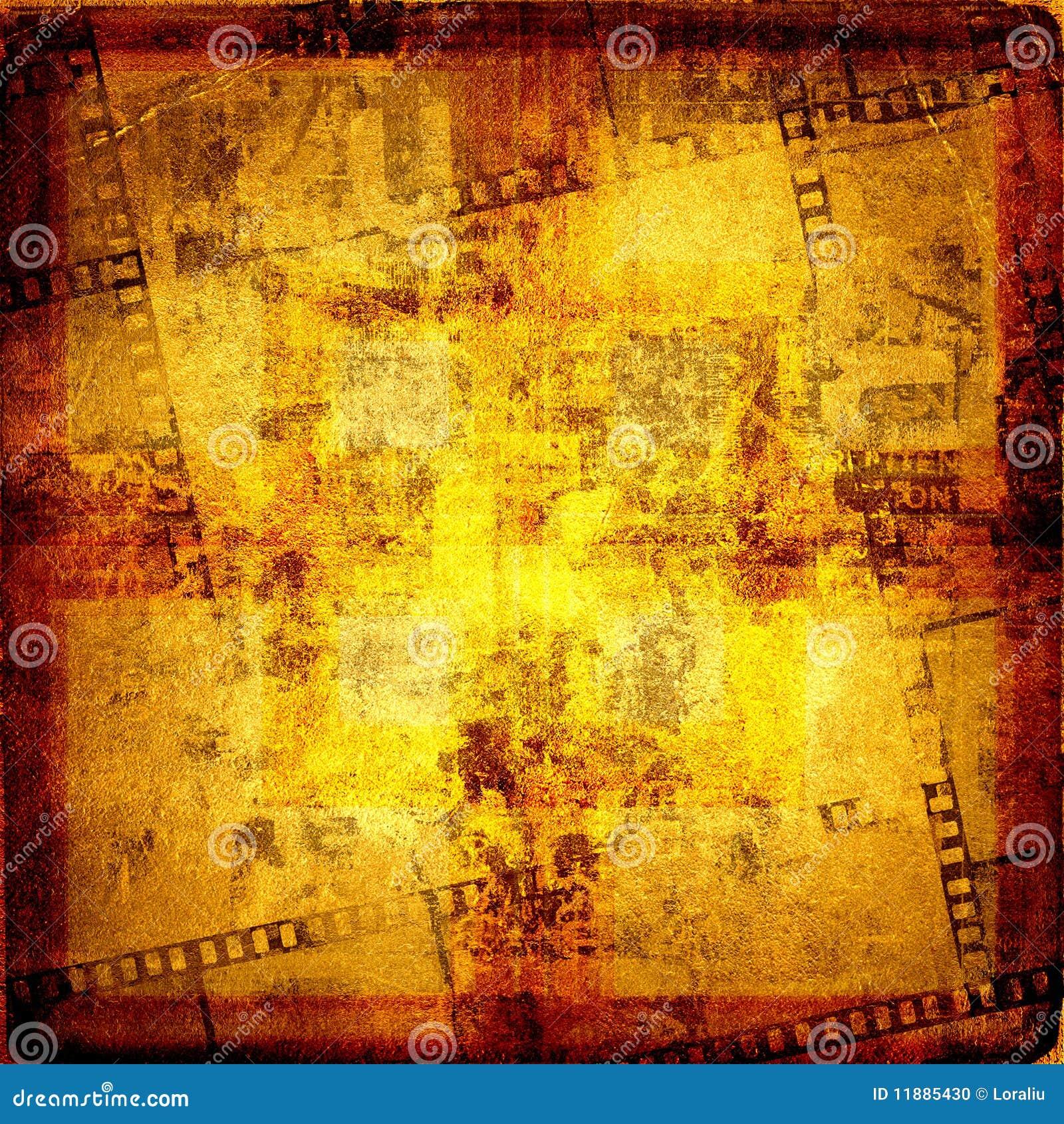 Gammal filmstripramgrunge