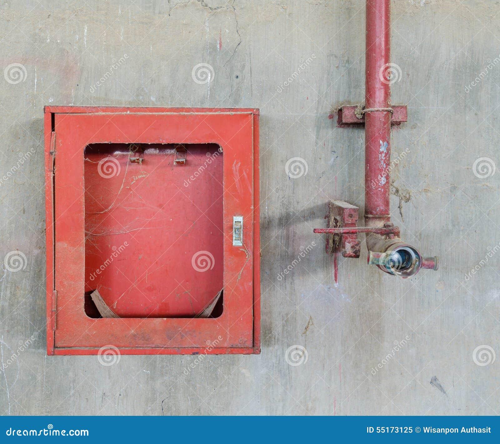 Gammal firehose och firehoseask