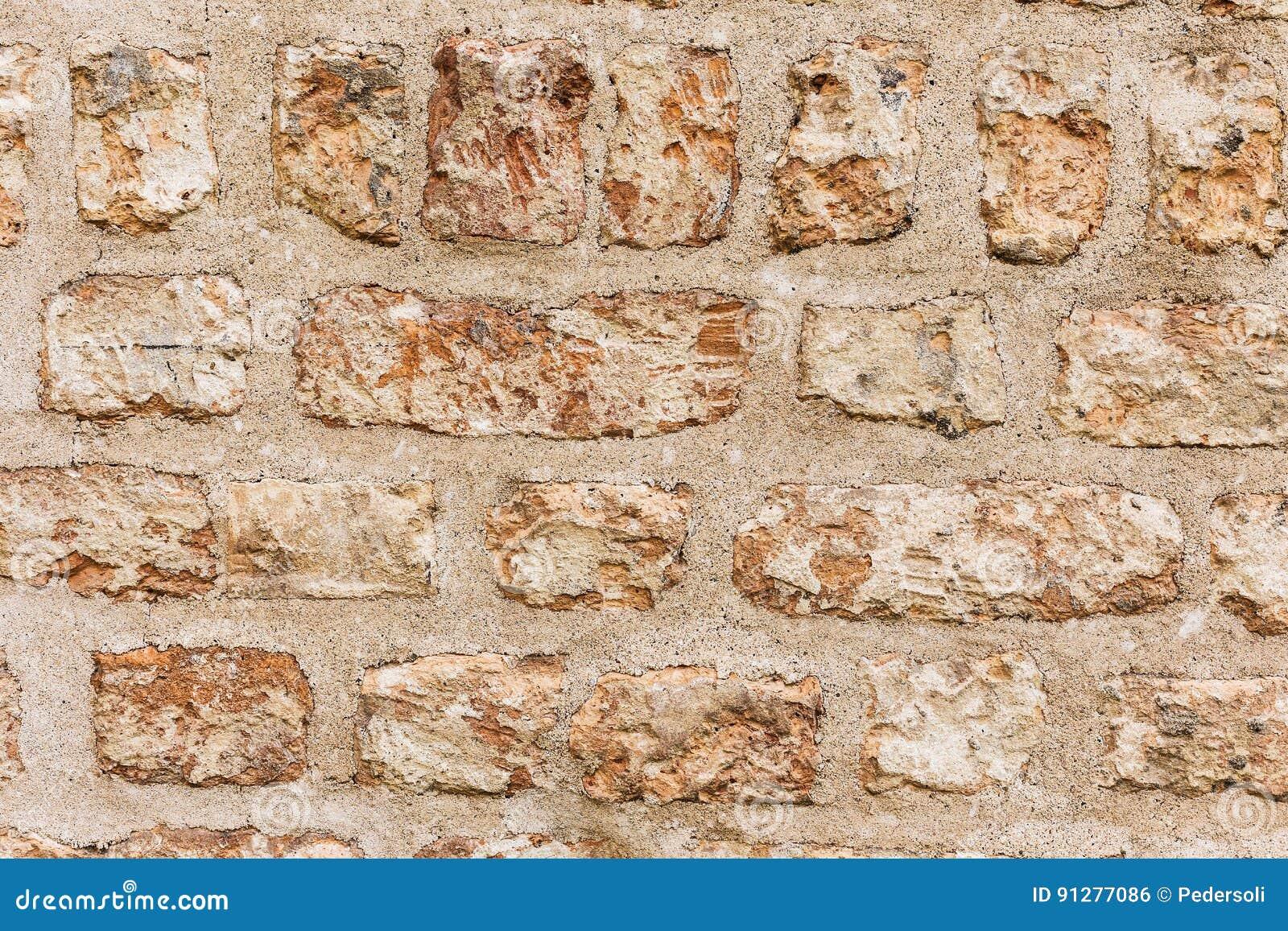 Gammal forntida textur för grunge för tegelstenvägg