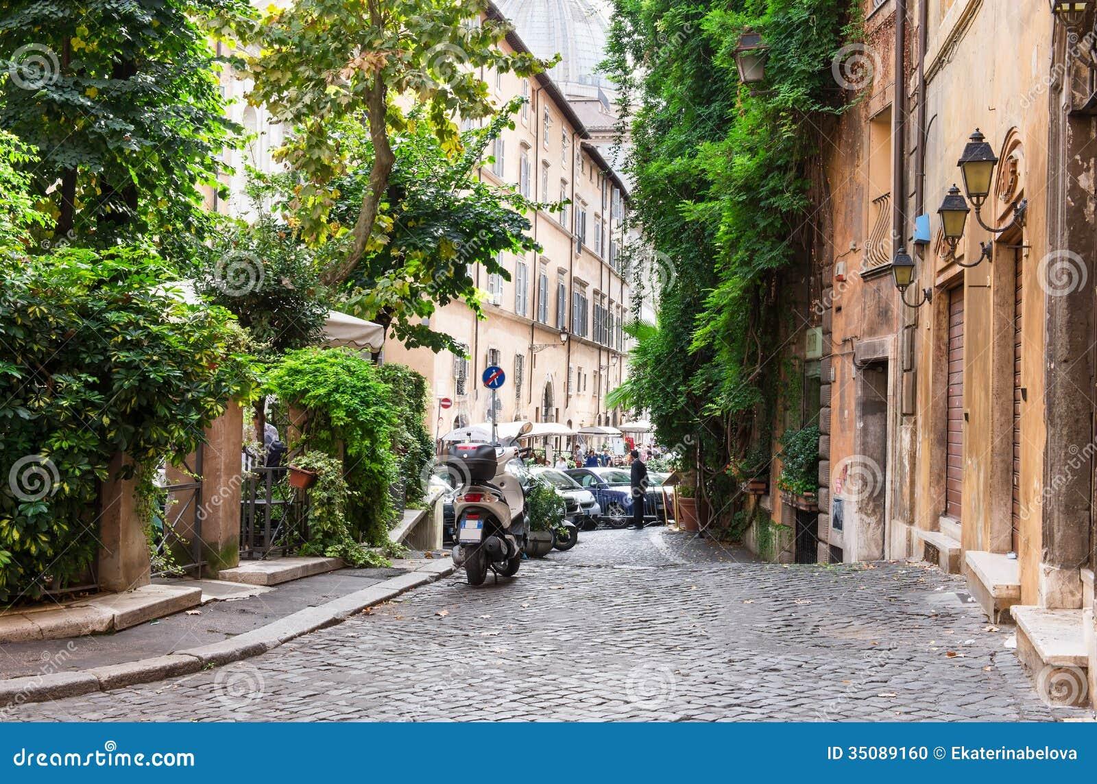 Gammal gata i Rome