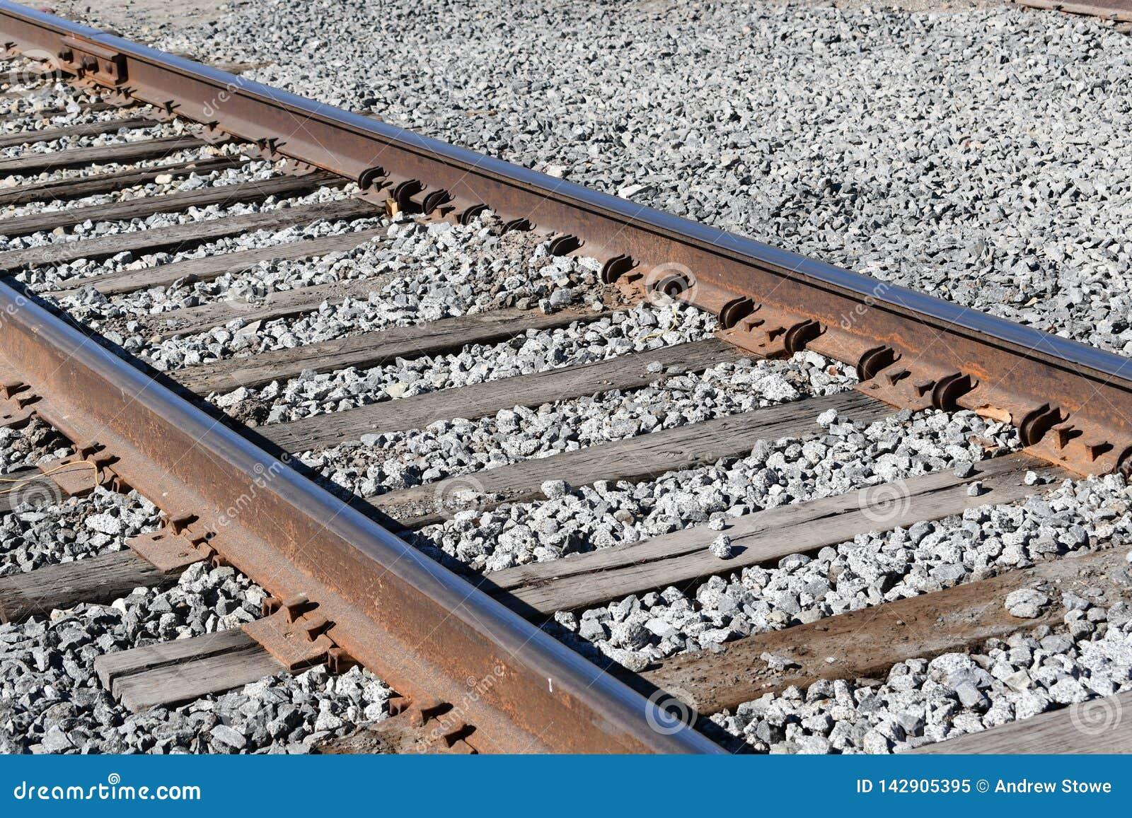 Gammal järnväg spårar Spår för stångvägdrev