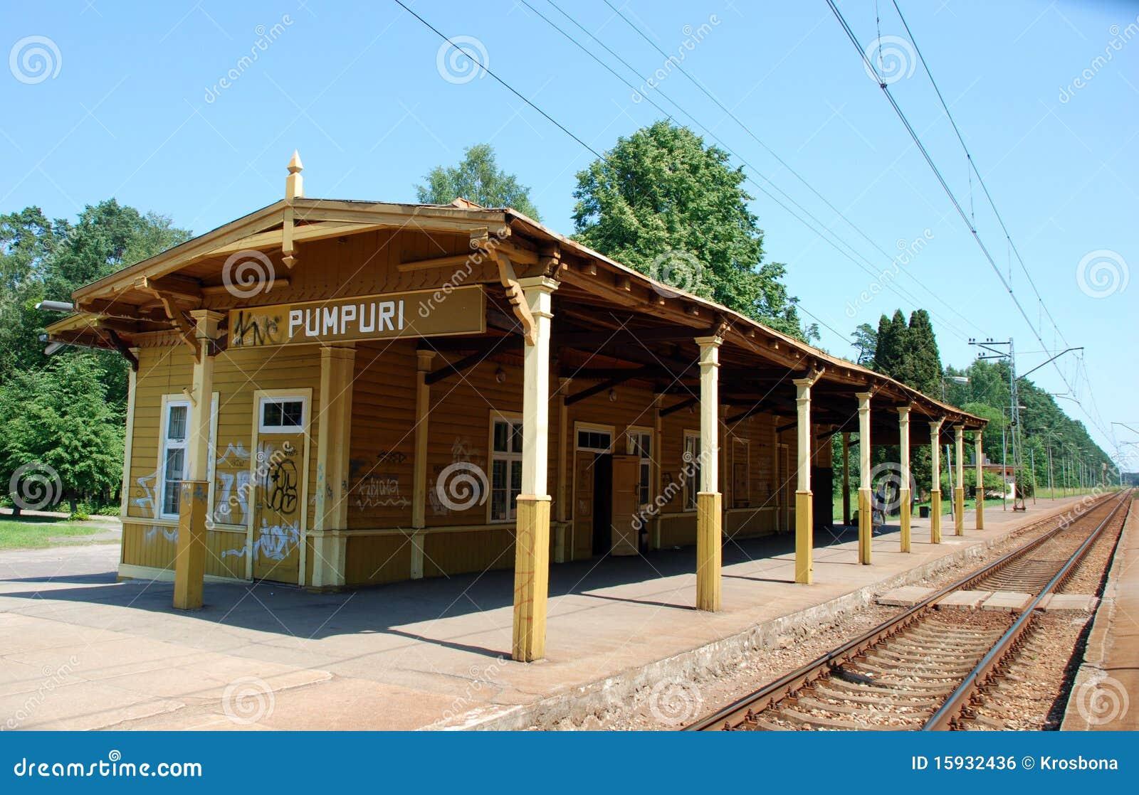 Gammal järnväg station