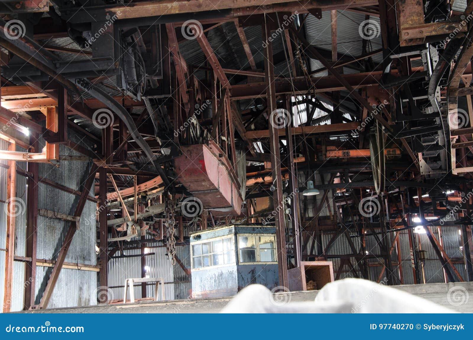 Gammal kolgruva i Longyearbyen