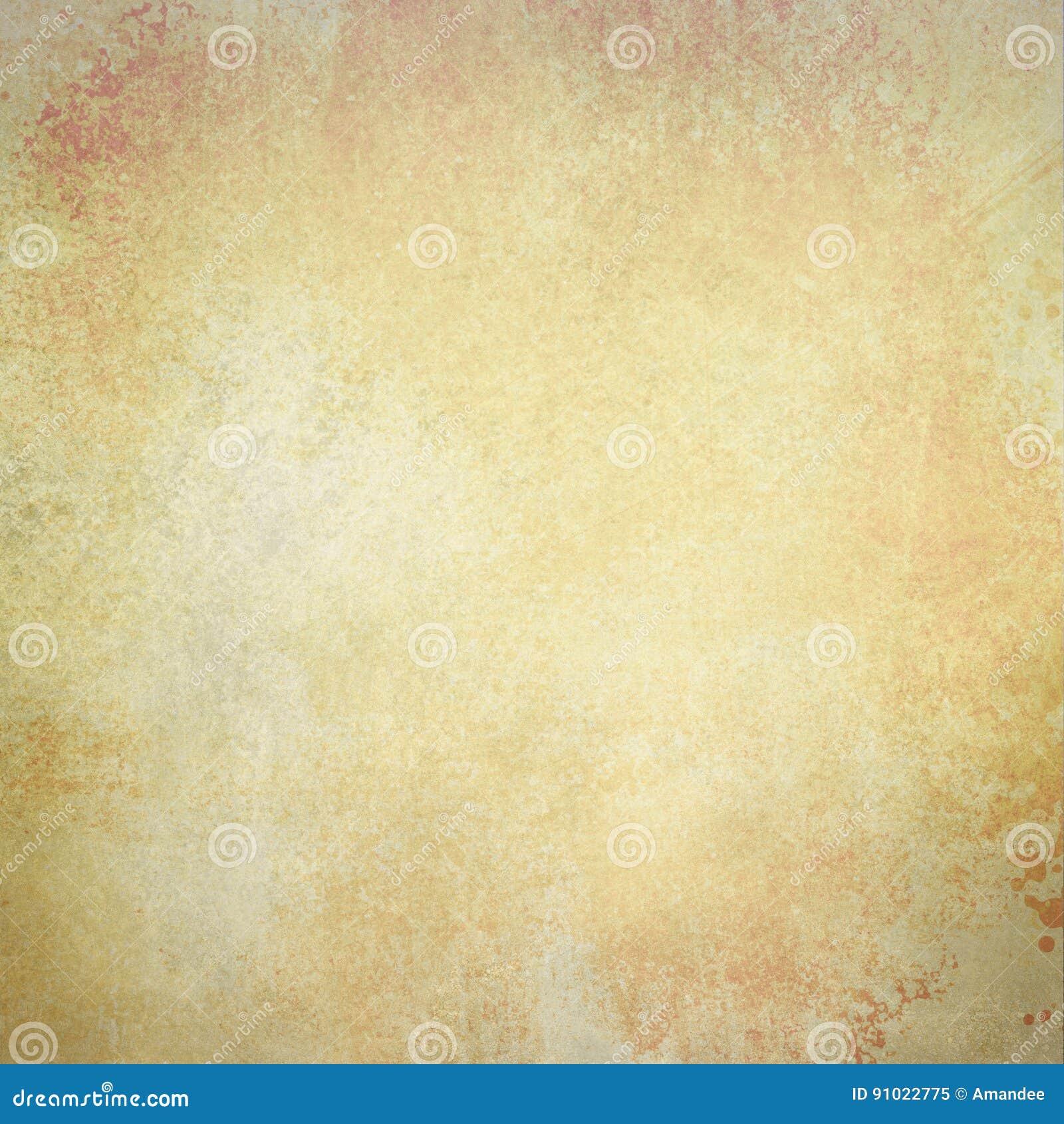 Gammal pappers- bakgrund i urblekt metallbruntguld och vit färgar med tappningtextur