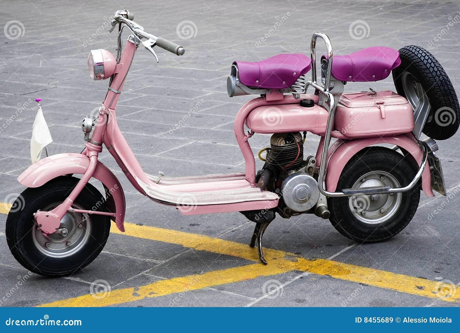 Gammal pink för motorbike