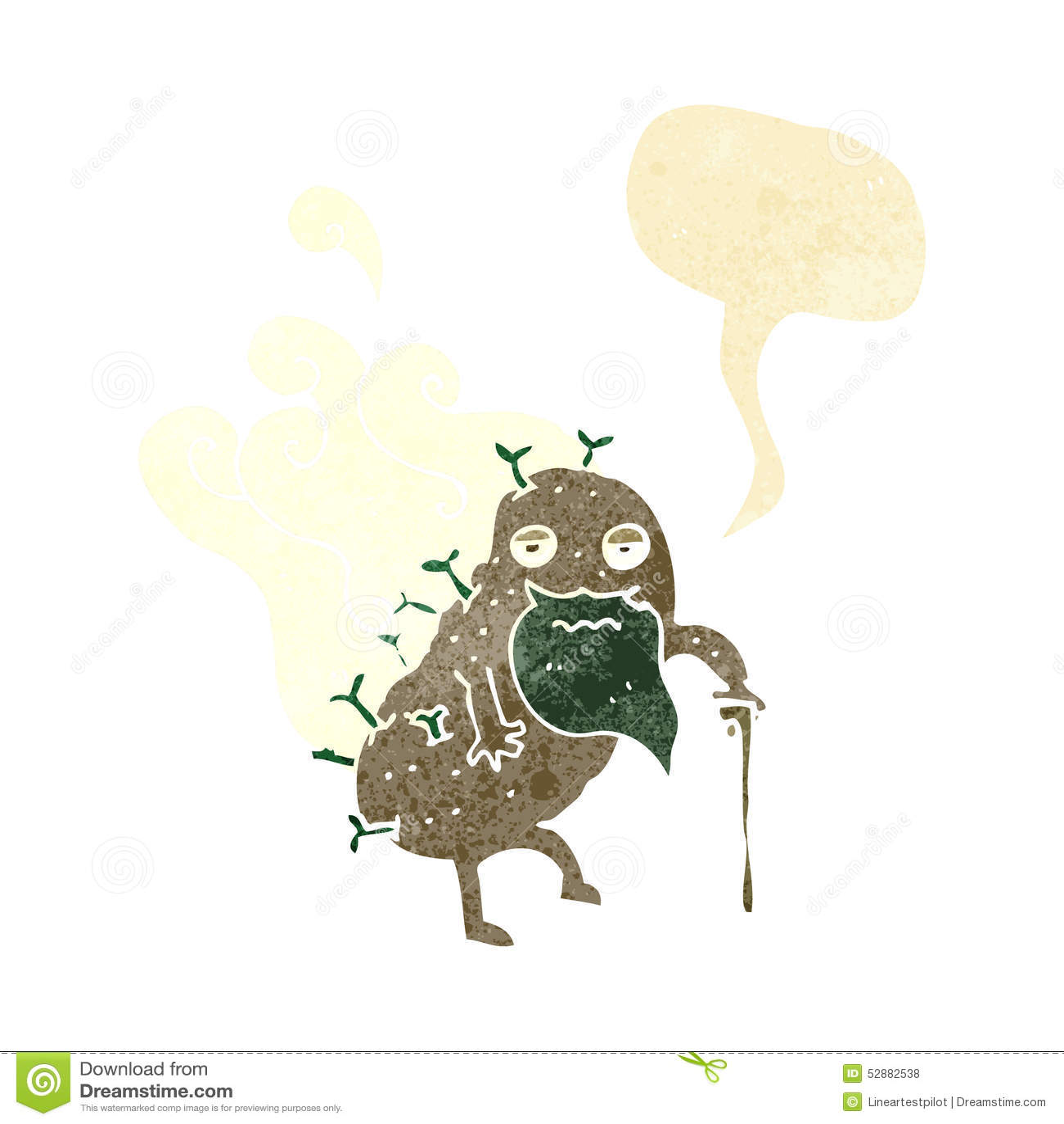 tecknad potatis