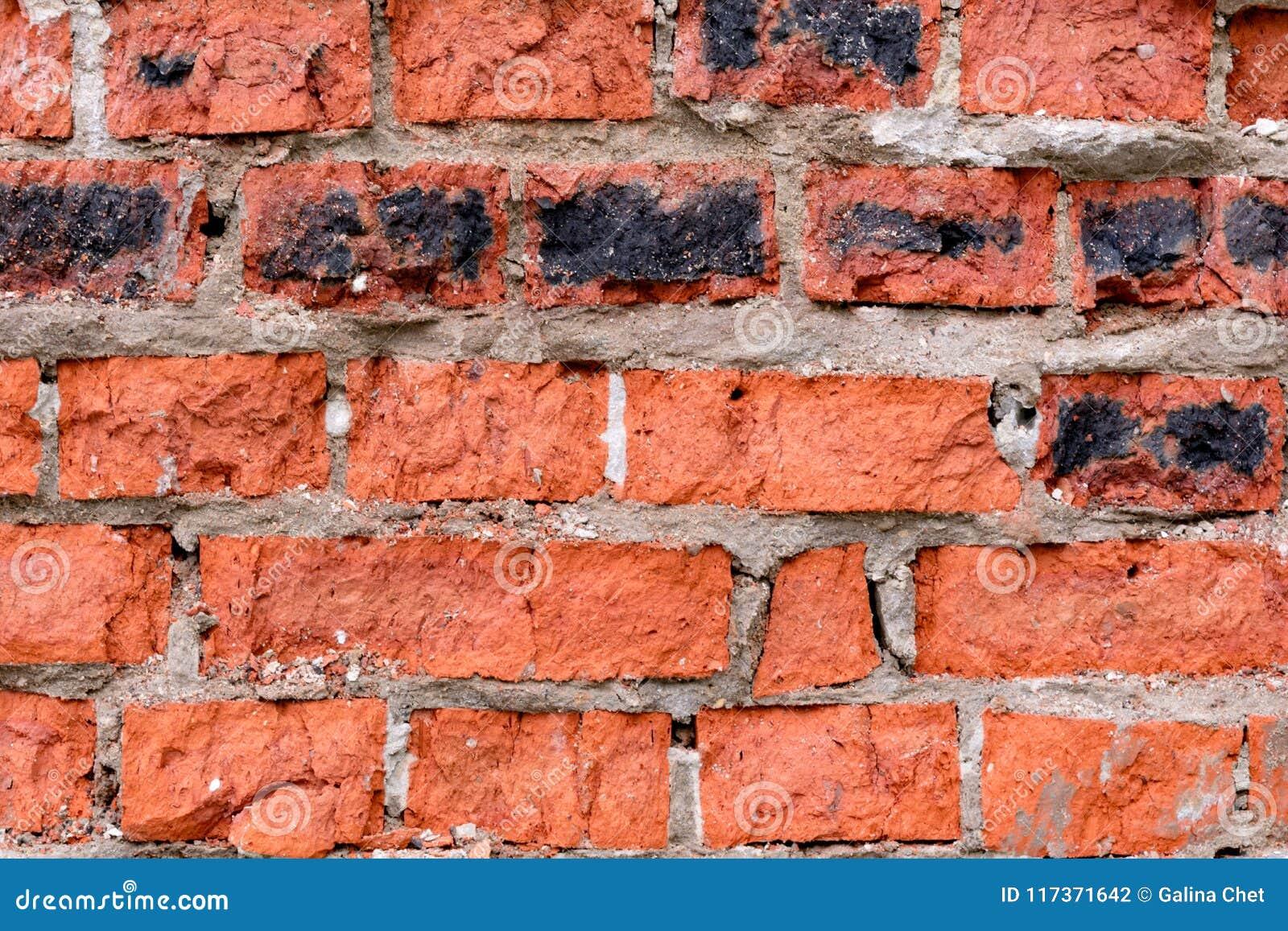 Gammal röd vägg för bakgrundstegelsten
