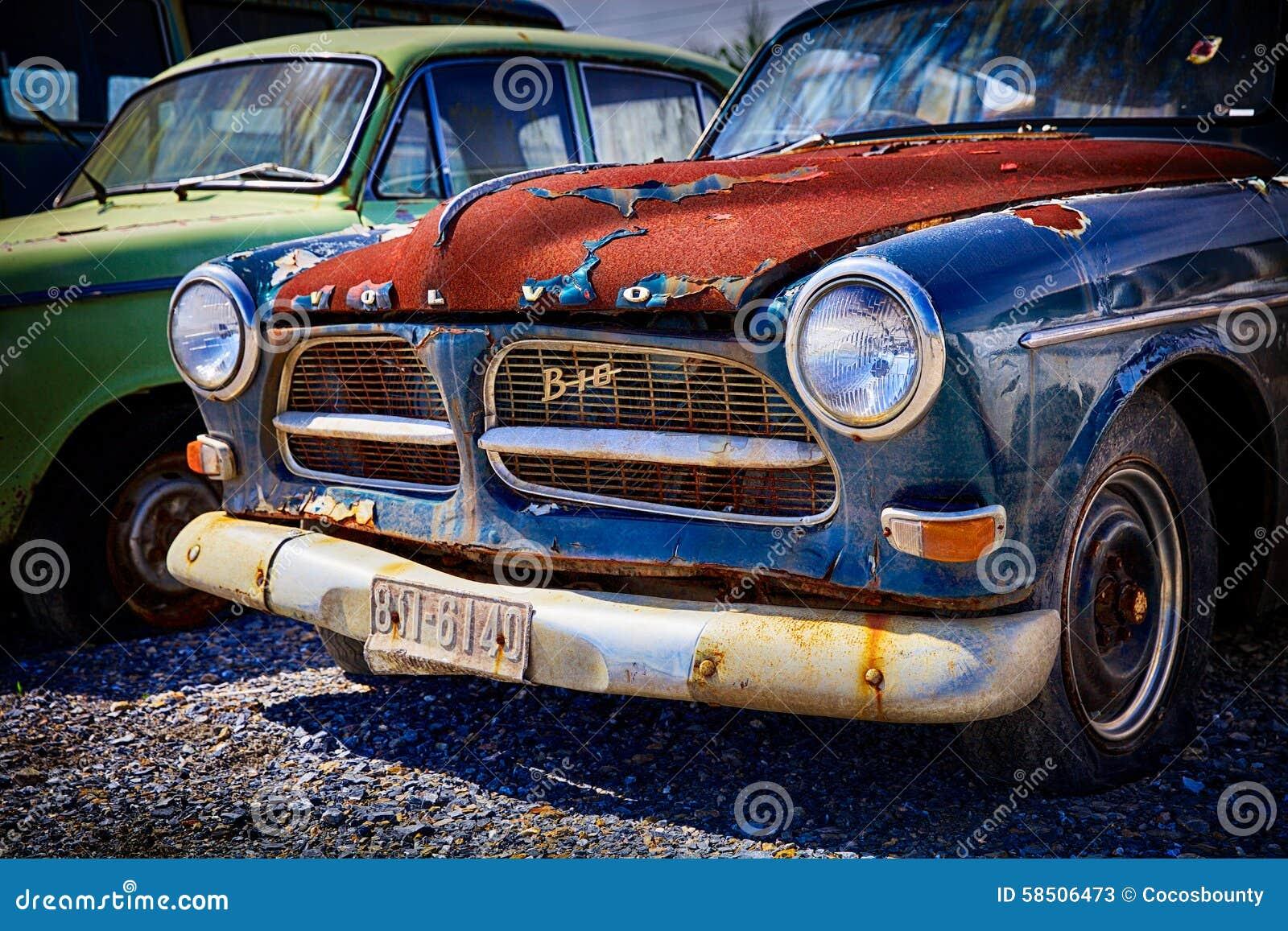 Gammal Retro Bil Volvo Redaktionell Arkivfoto Bild Av Bangor 58506473