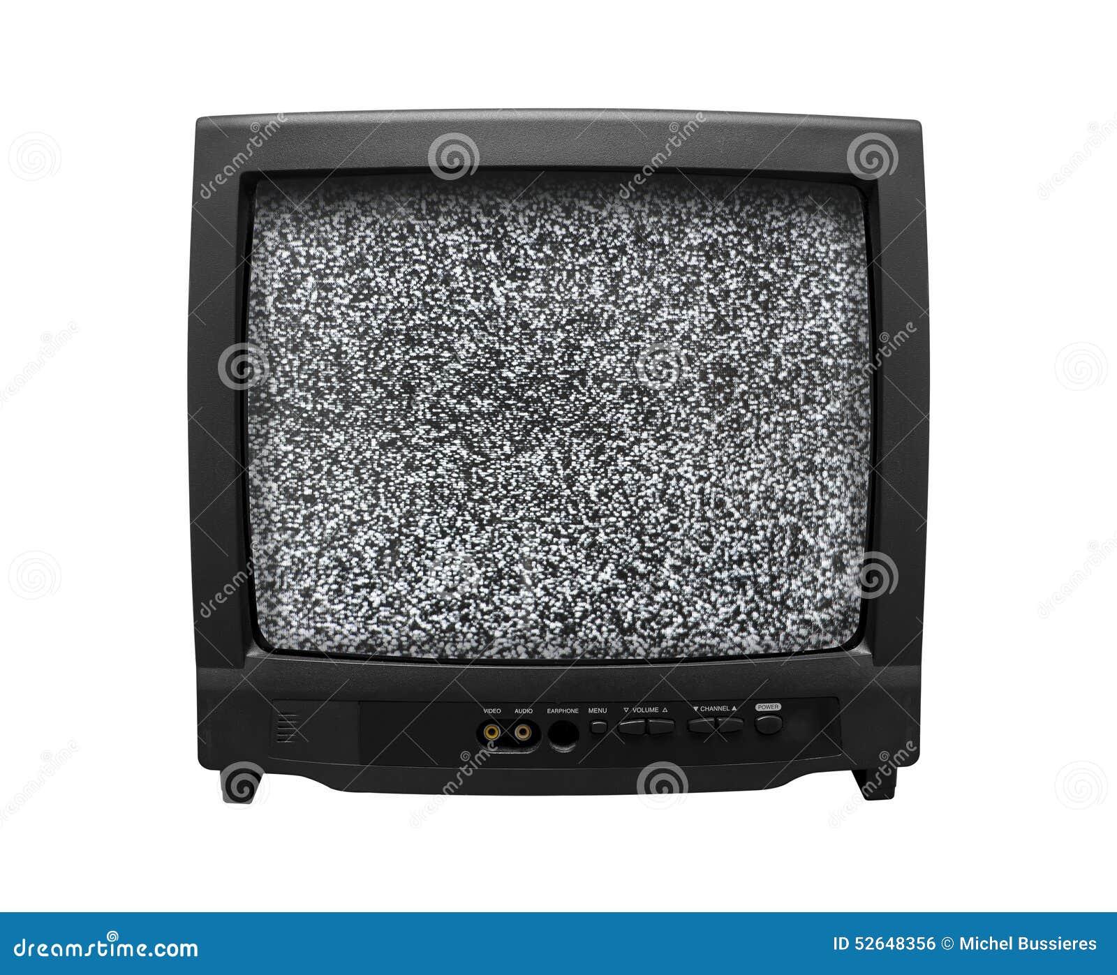 Gammal retro tv för oväsen