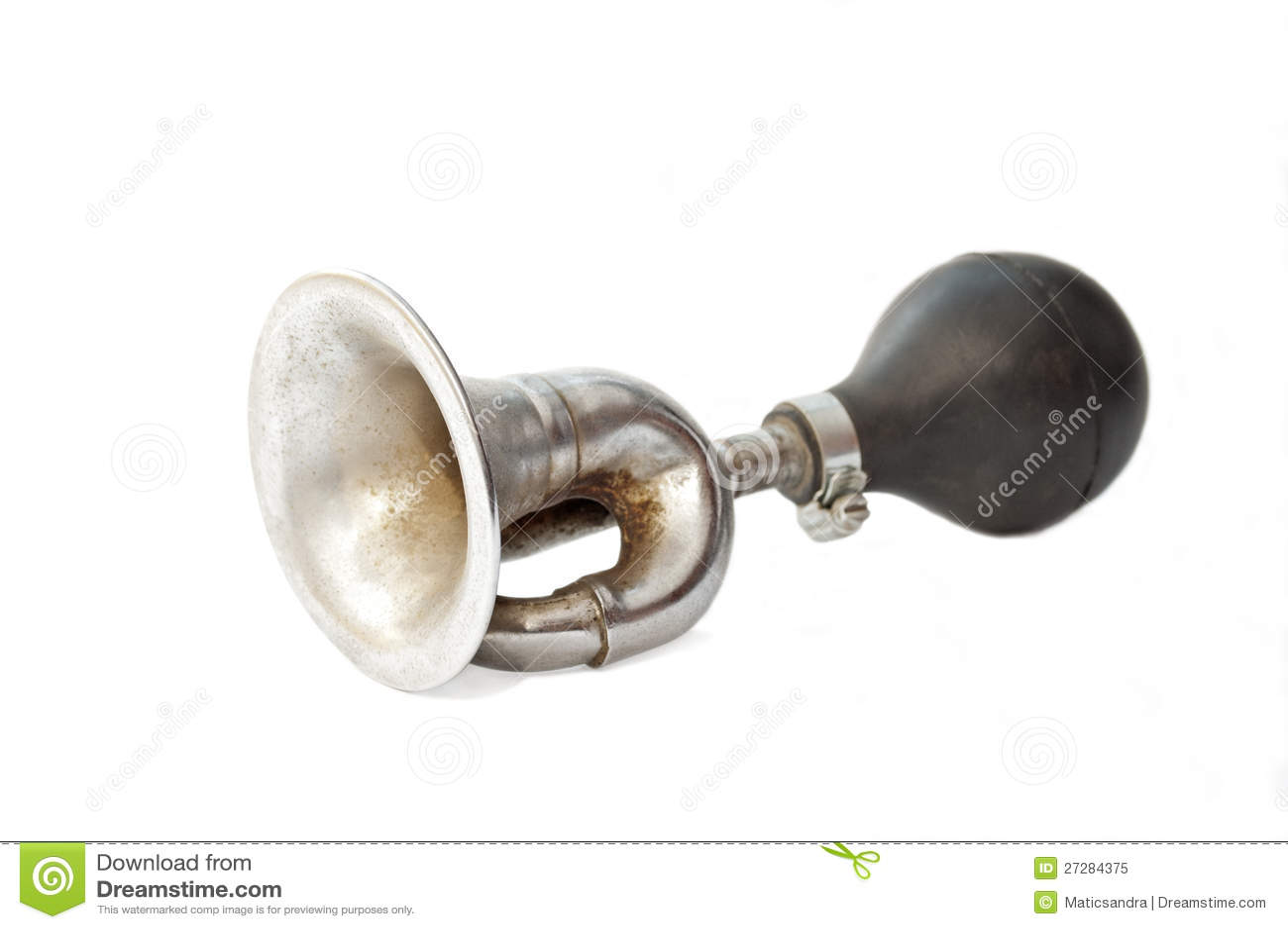 Gammal rostig horn