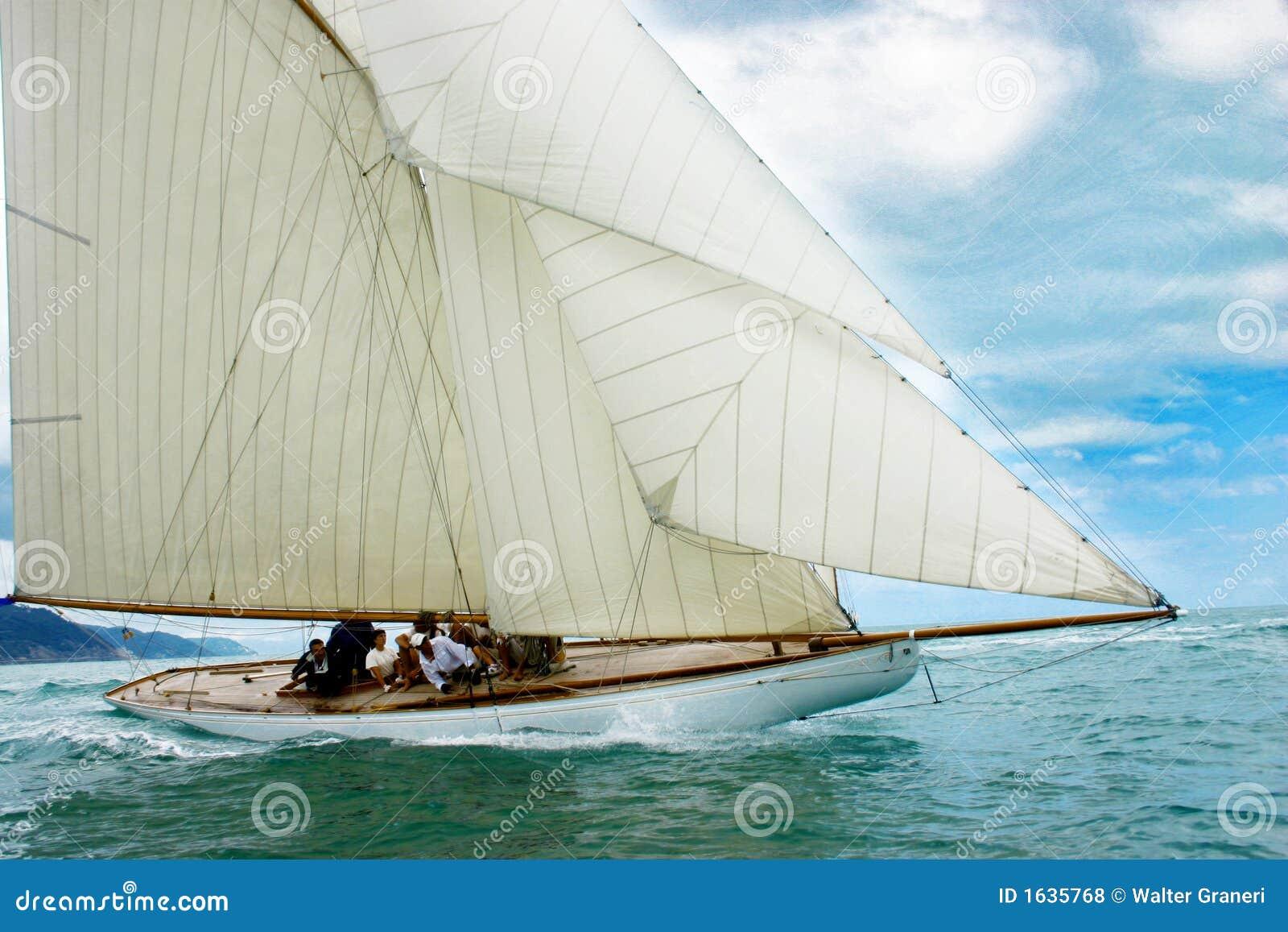 Gammal segling för fartyg