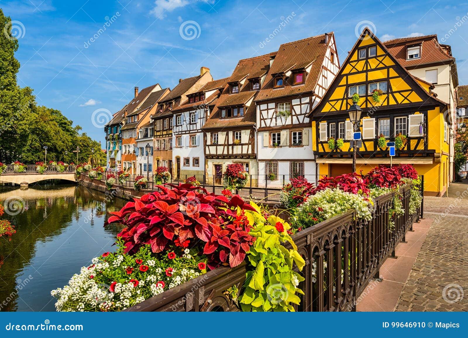 Gammal stad av Colmar, Alsace, Frankrike